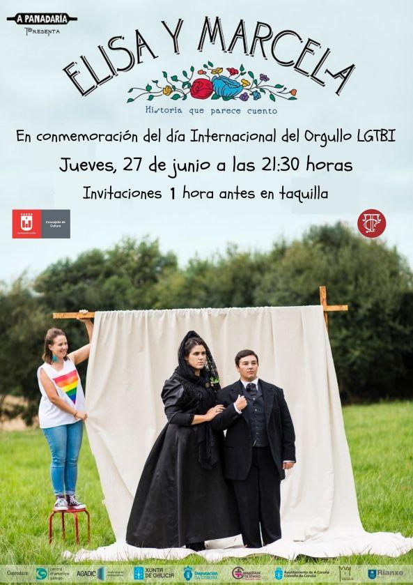 El Teatro Castelar se une a los actos del Día Internacional del Orgullo LGTBI con la representación de 'Elisa y Marcela'