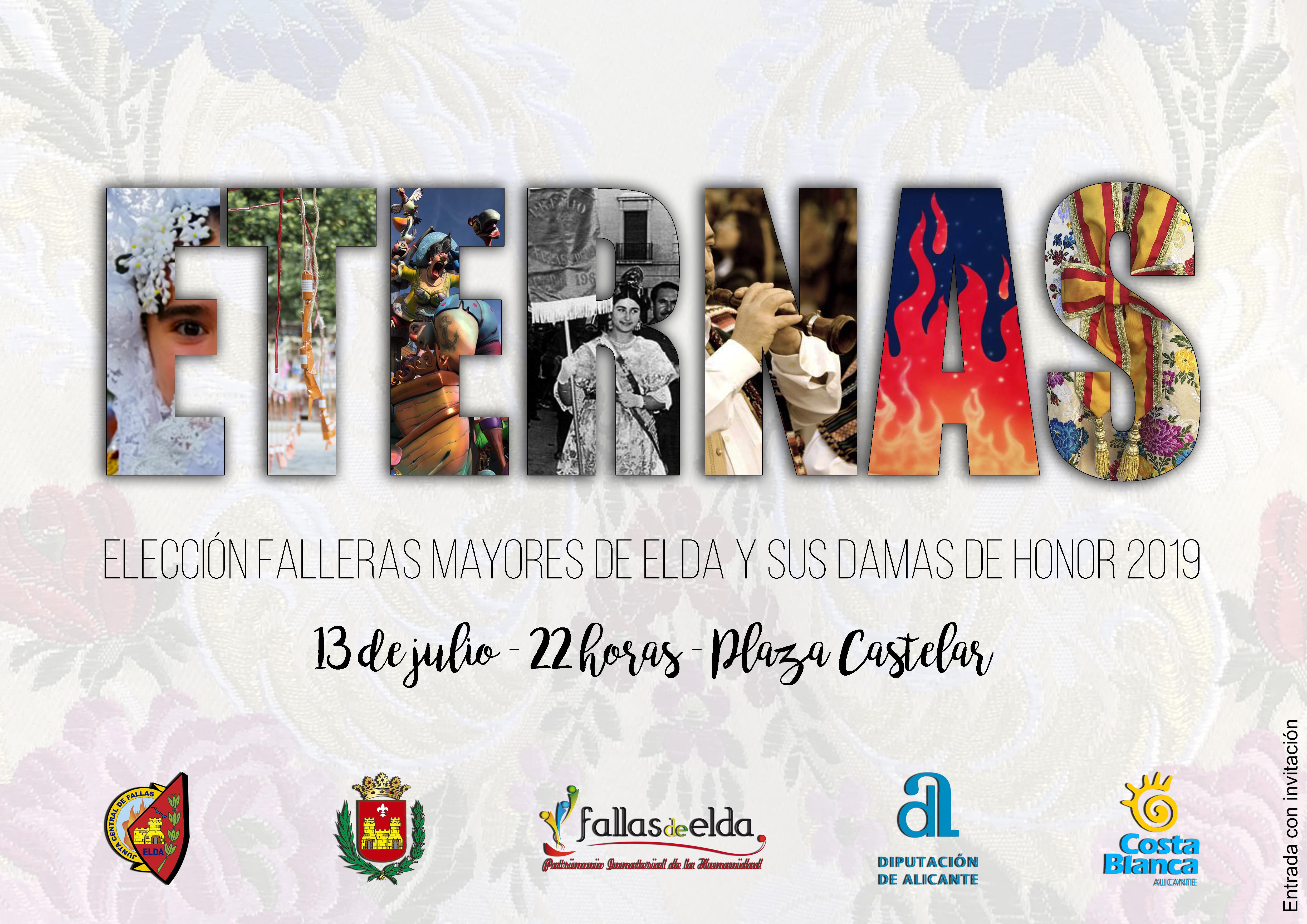La Plaza Castelar de Elda acogerá la elección de las Falleras Mayores de Elda y sus Damas de Honor de 2019.