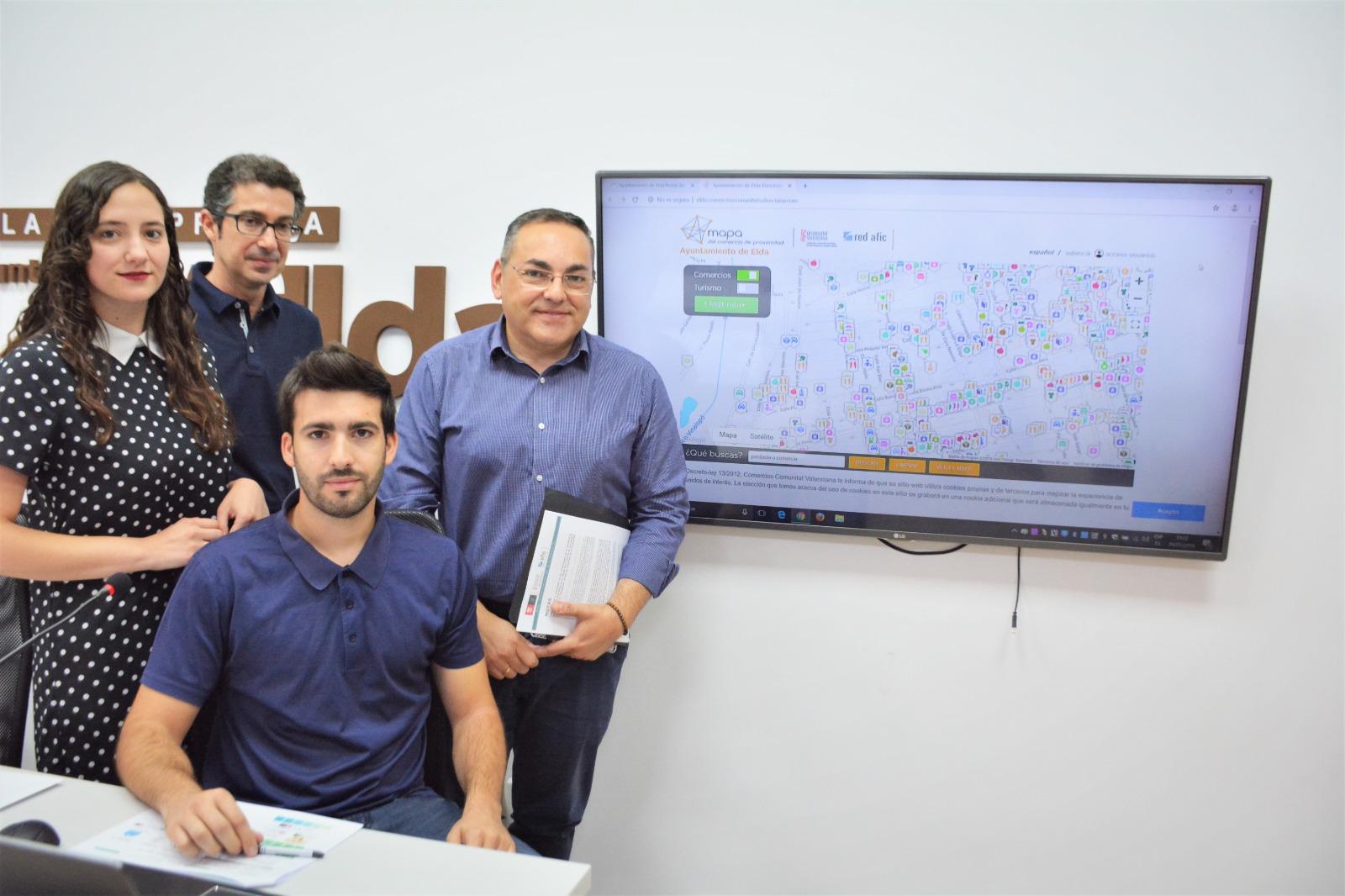 El Ayuntamiento de Elda presenta el Mapa del Comercio de Proximidad de la ciudad