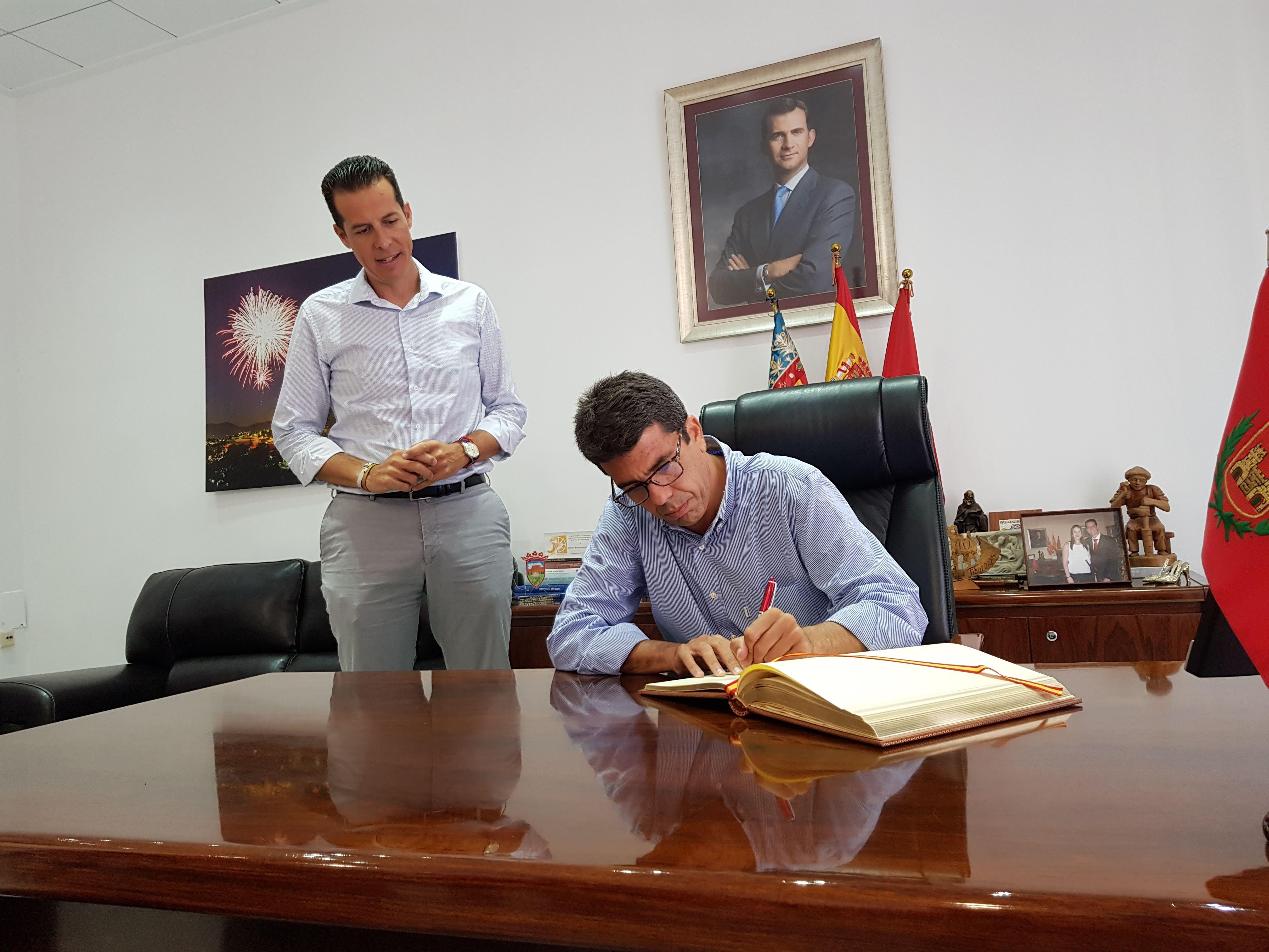 Rubén Alfaro y Carlos Mazón se comprometen a estrechar la colaboración entre el Ayuntamiento de Elda y la Diputación de Alicante