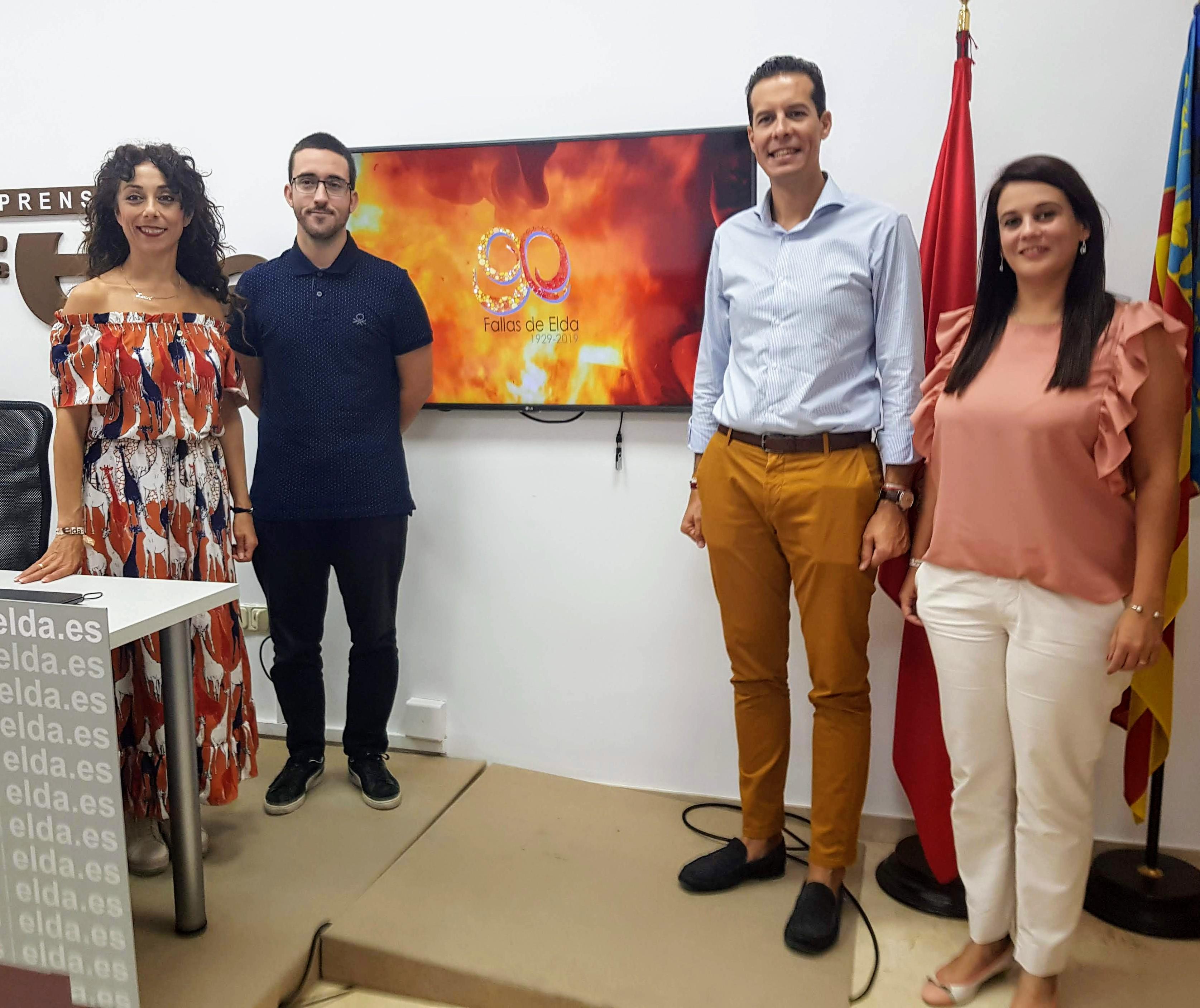 El Ayuntamiento presenta el vídeo oficial para la promoción de las Fallas de Elda 2019