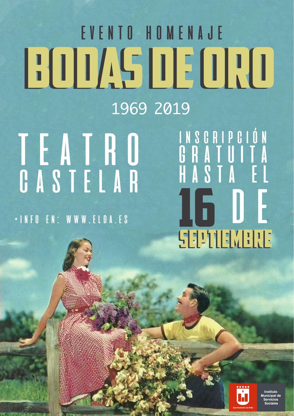 El Teatro Castelar acoge mañana el homenaje del Ayuntamiento a catorce parejas que celebran este año las Bodas de Oro
