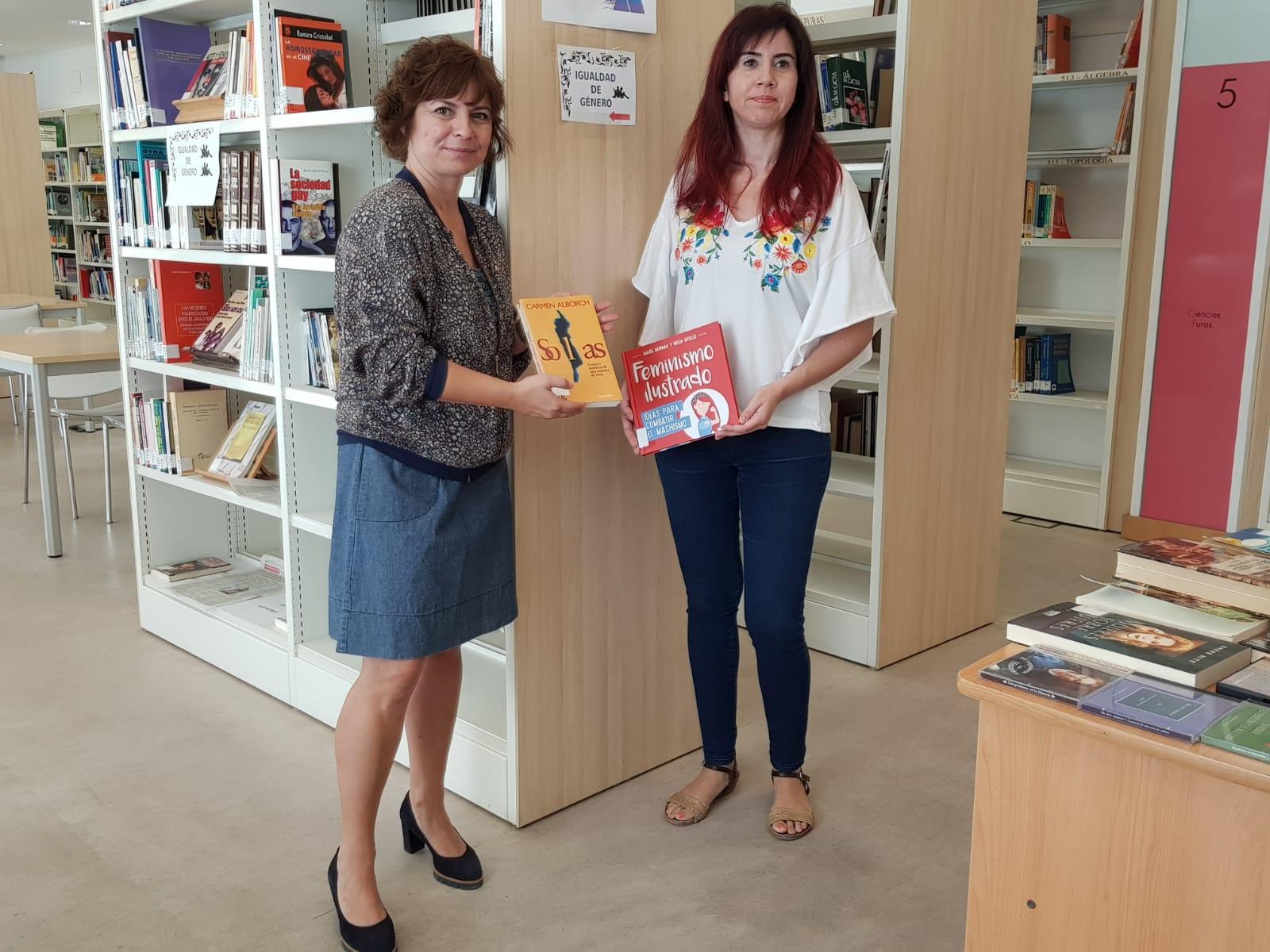 La biblioteca Alberto Navarro crea un espacio específico sobre Igualdad de Género