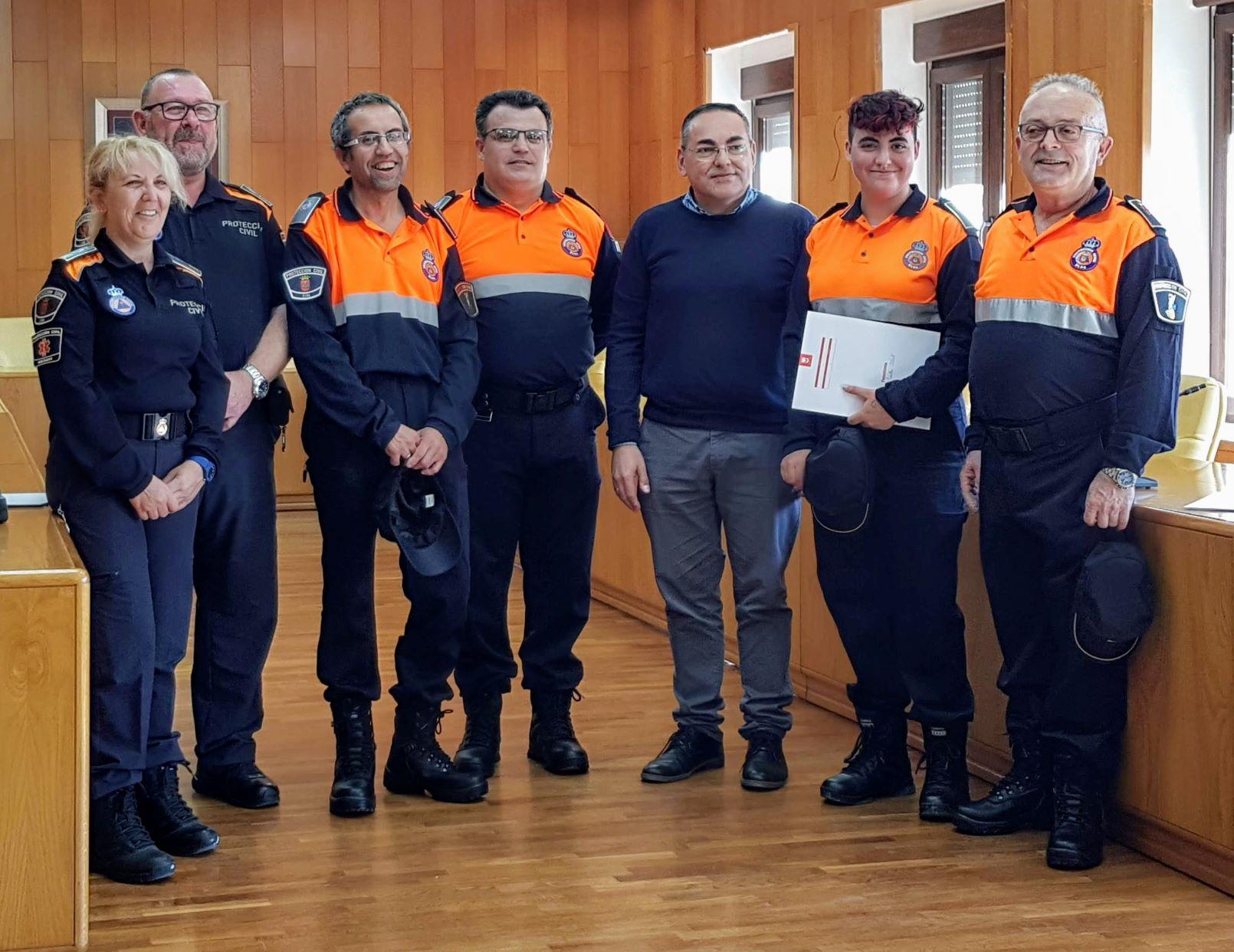 El Ayuntamiento de Elda incorpora cuatro nuevos voluntarios a la agrupación local de Protección Civil