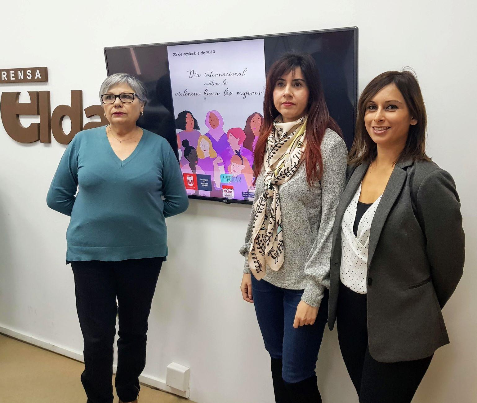 Elda se suma al 'Día Internacional contra la Violencia hacia las Mujeres' con un programa de charlas, talleres, teatro y exposiciones