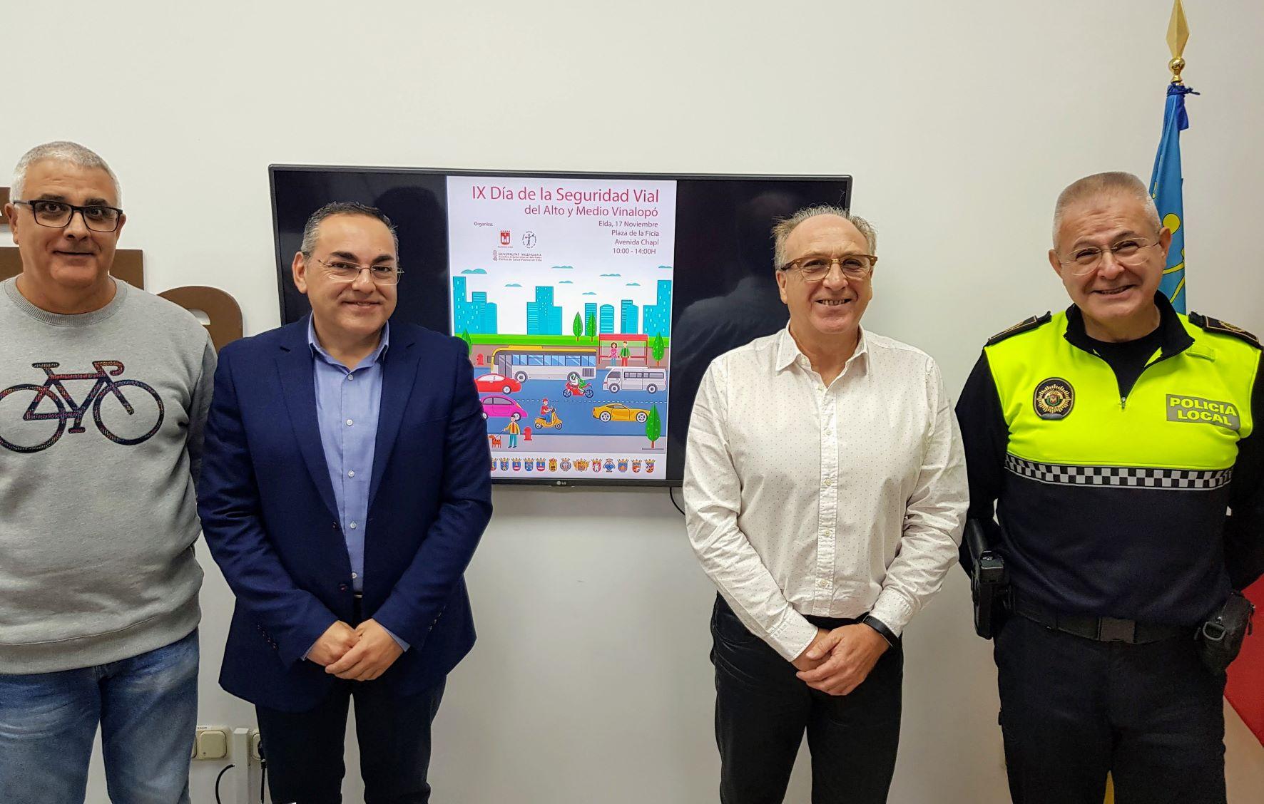 Elda acoge el IX Día de la Seguridad Vial con talleres educativos, un parque infantil de tráfico y una simulación de rescate con víctimas