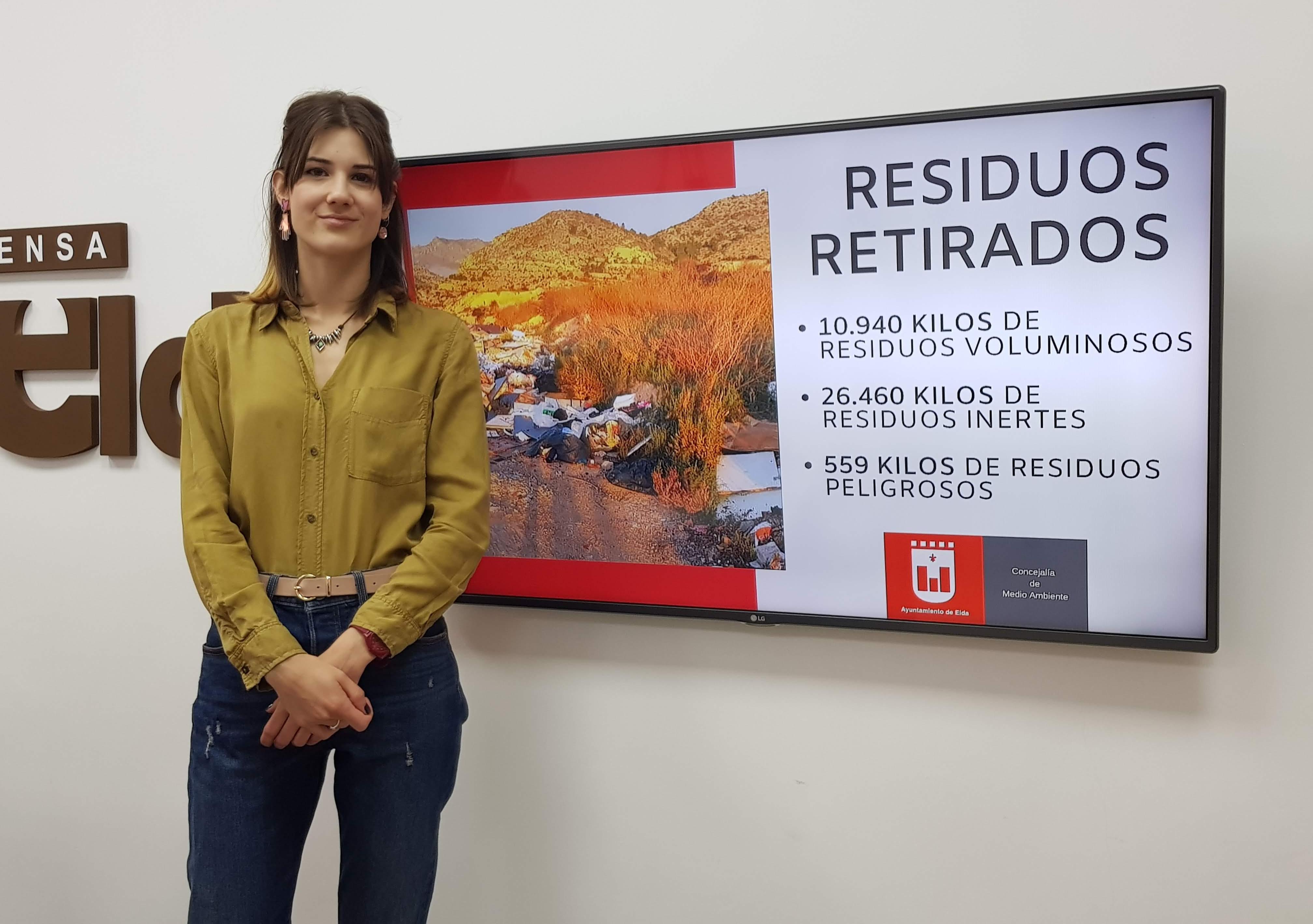 Medio Ambiente retira más de 38 toneladas de residuos, escombros y envases contaminantes en parajes y caminos rurales de Elda