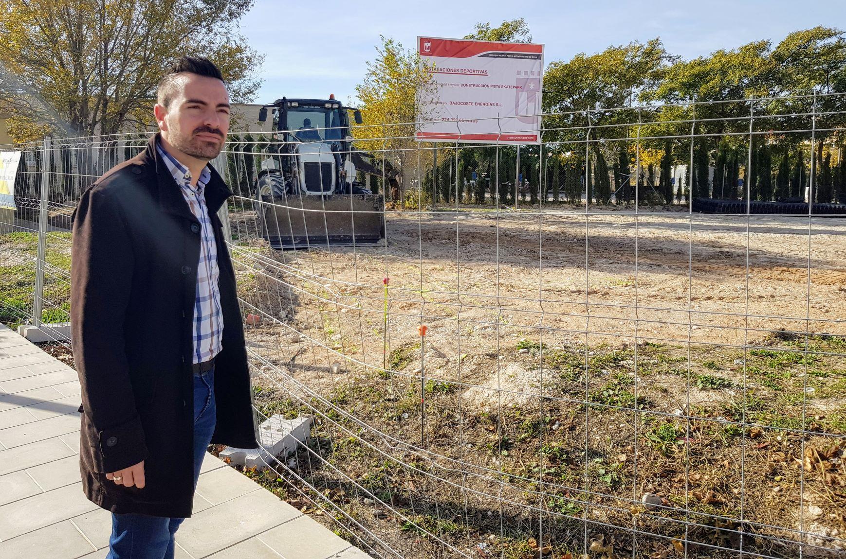 La construcción del skate-park de Elda ya está en marcha y en dos meses estará listo para su utilización