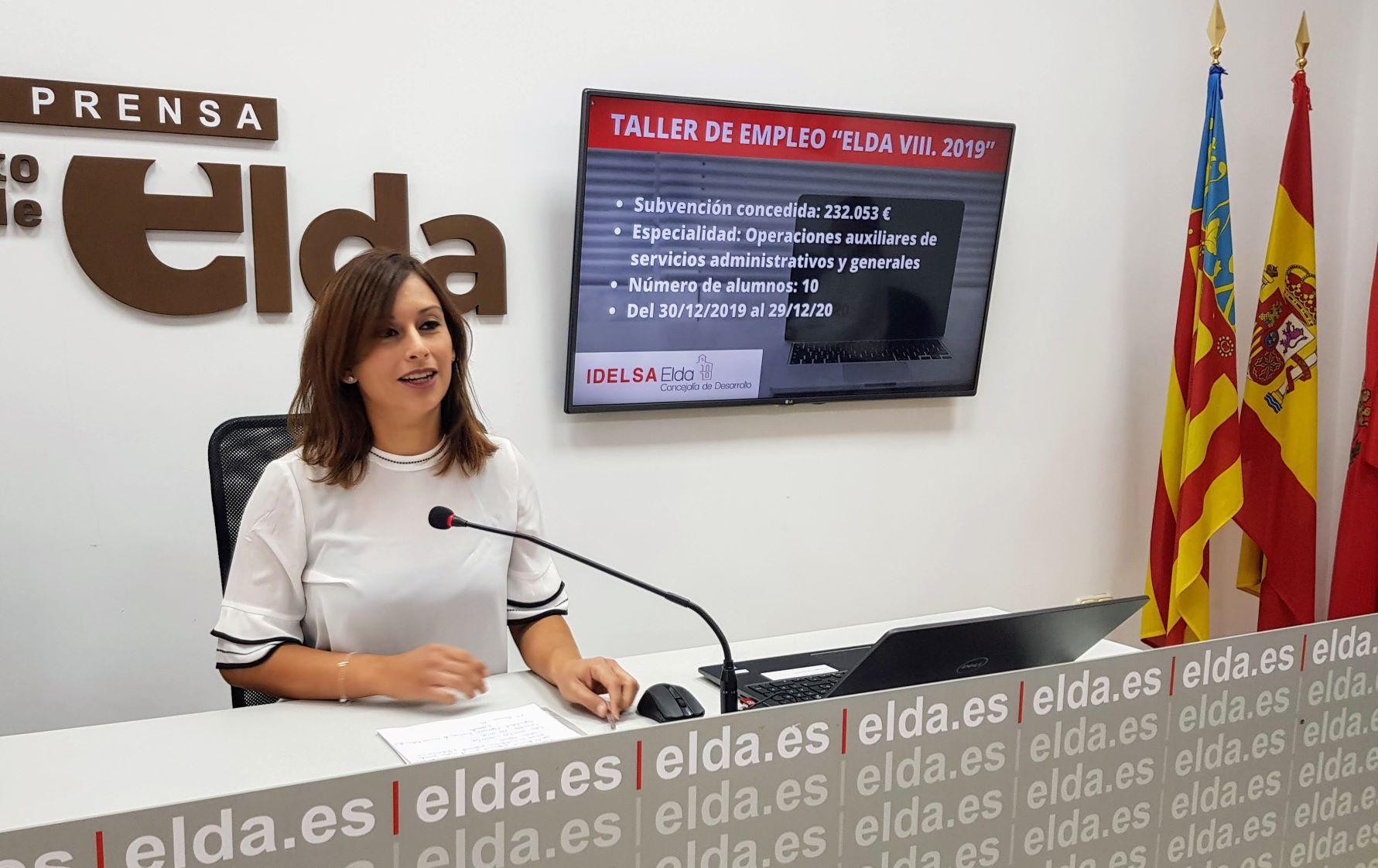 Elda recibe una subvención de 232.054 euros para la puesta en marcha de un nuevo Taller de Empleo con diez alumnos