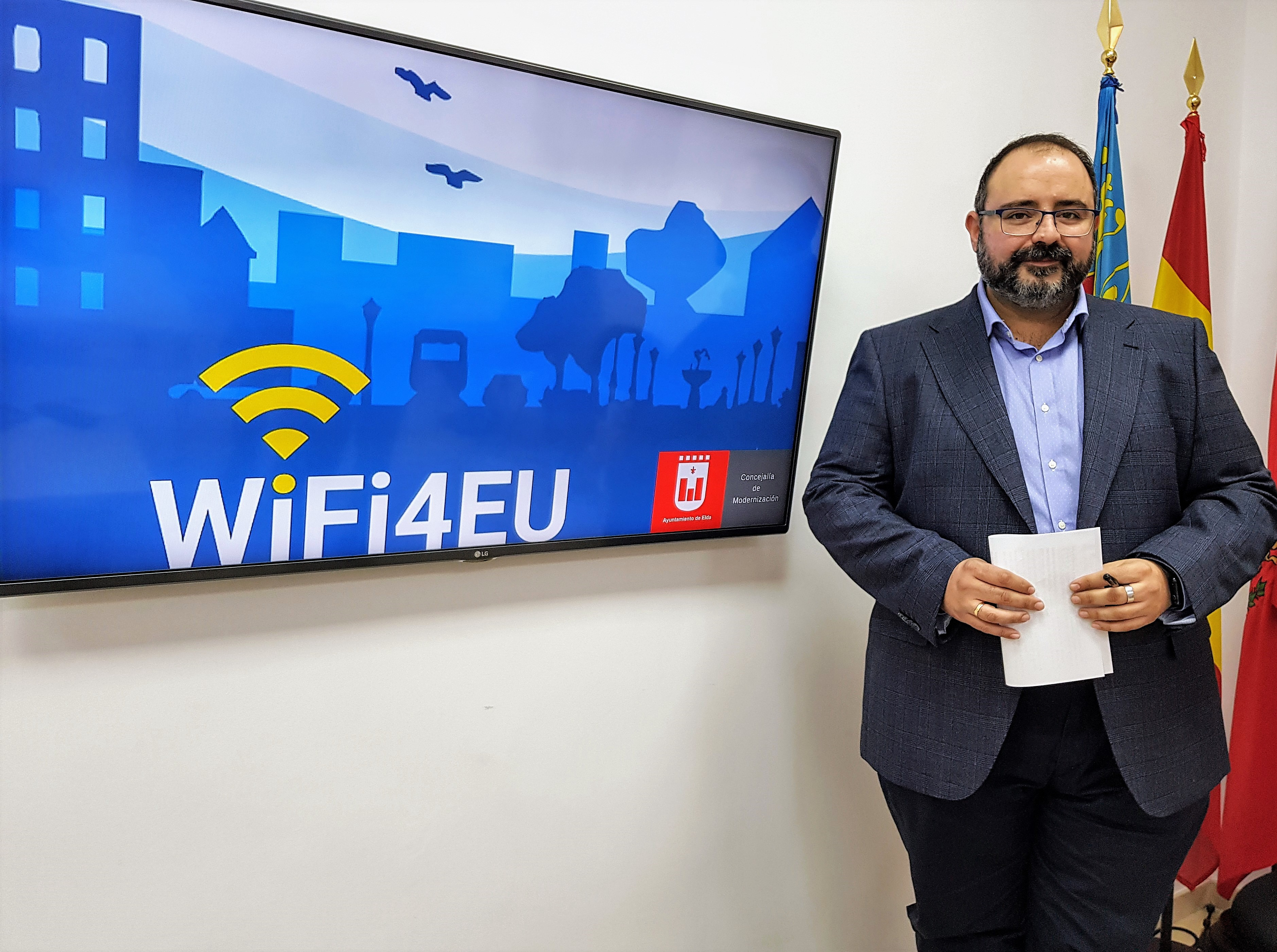 Elda recibe una subvención de la Unión Europea para la instalación de wifi gratuito en espacios públicos de la ciudad