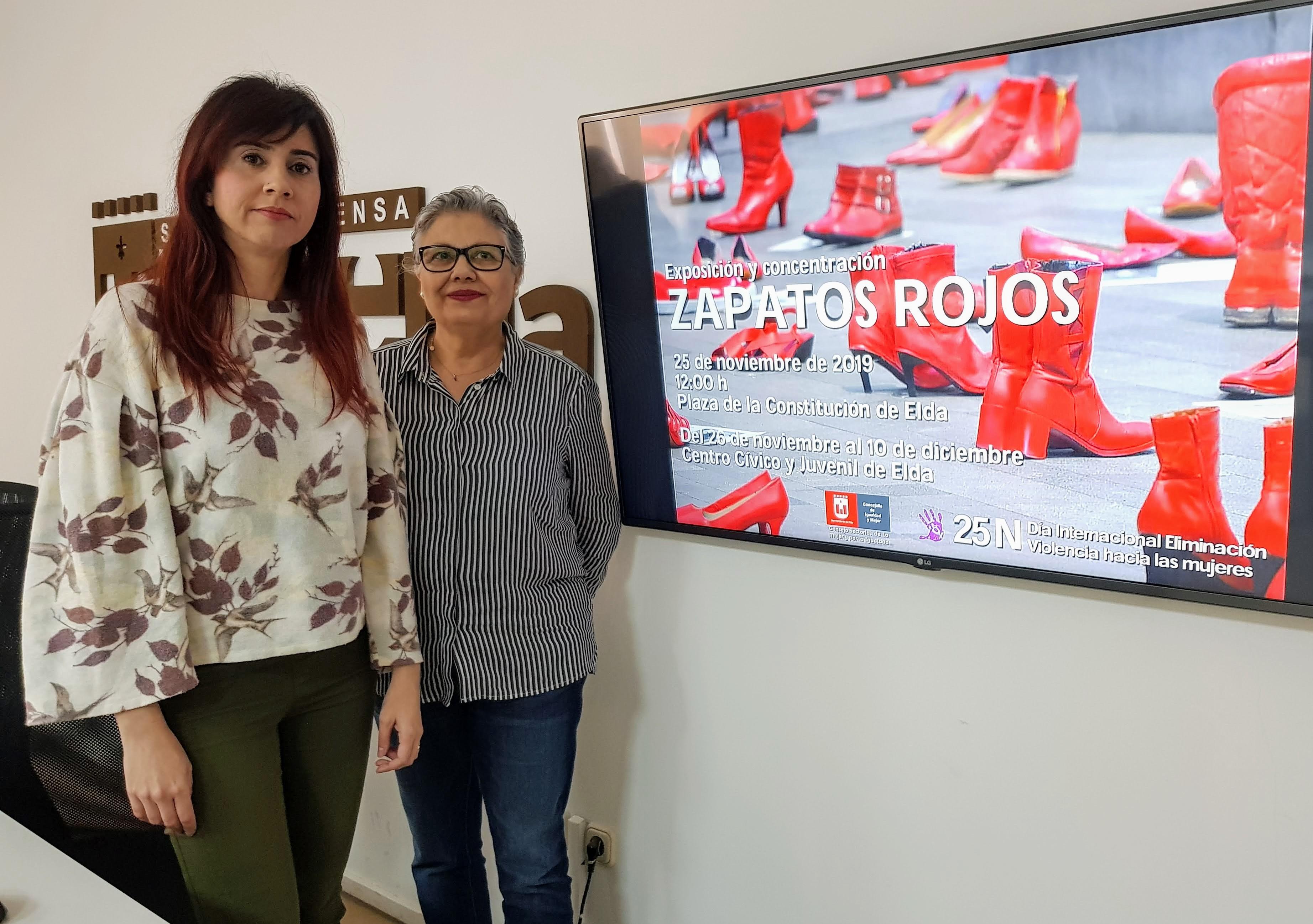 La Concejalía de Igualdad organiza la campaña 'Zapatos Rojos' para visibilizar la lacra de las agresiones machistas