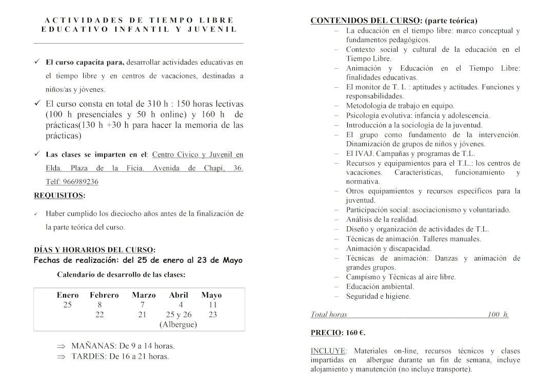 Folleto Curso Monitor 2020 COMIJ