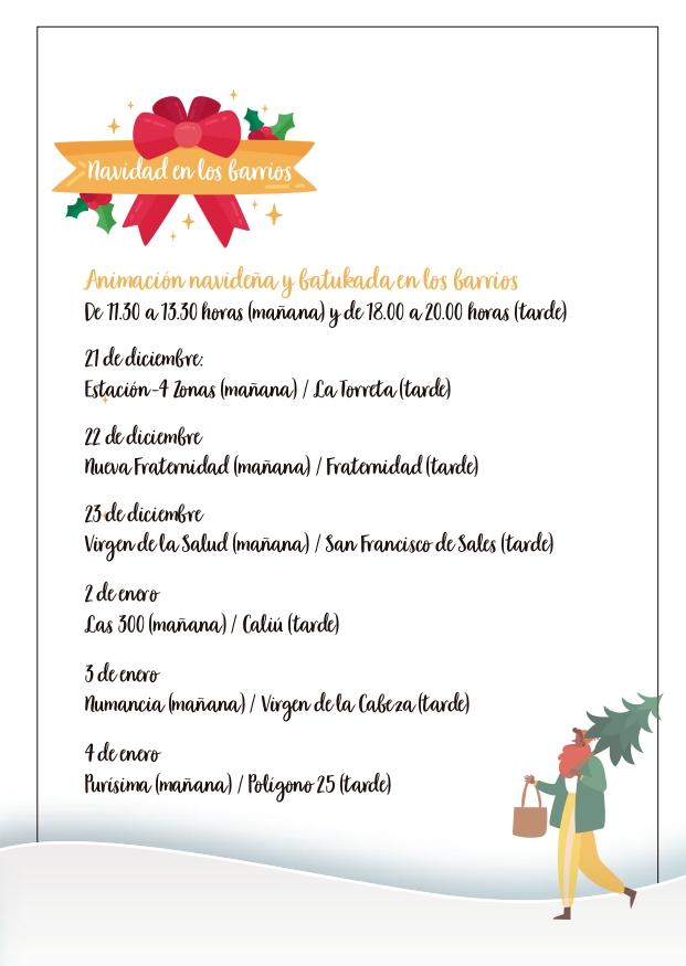 La Concejalía de Participación Ciudadana lleva la Navidad a todos los barrios de Elda