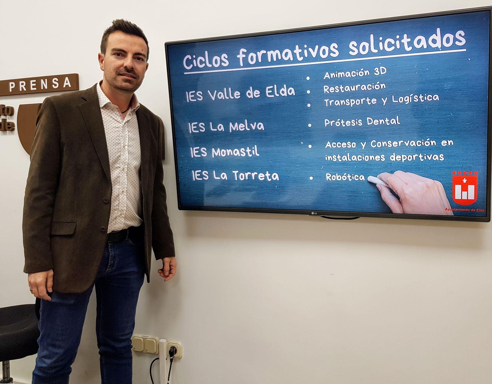 El Ayuntamiento de Elda solicita la implantación de seis nuevos ciclos formativos de FP en los institutos de la ciudad