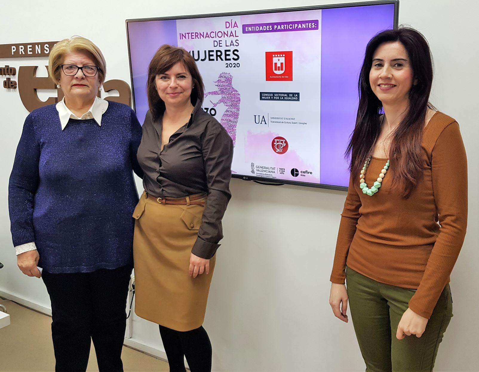 El Ayuntamiento de Elda ofrece un amplio programa de actividades para celebrar el 'Día Internacional de las Mujeres'