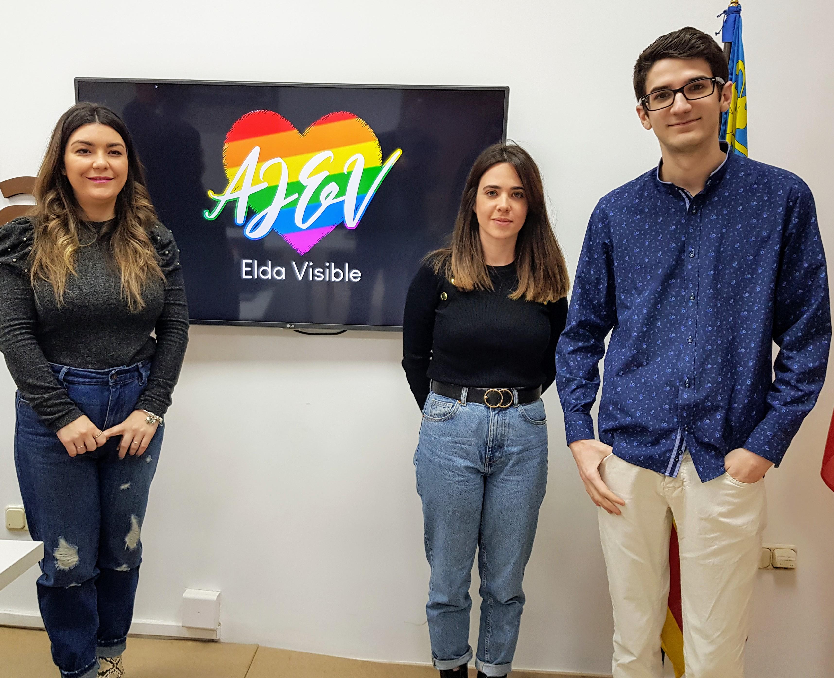 La asociación juvenil Elda Visible nace con el objetivo de reivindicar los derechos del colectivo LGTBI de la ciudad