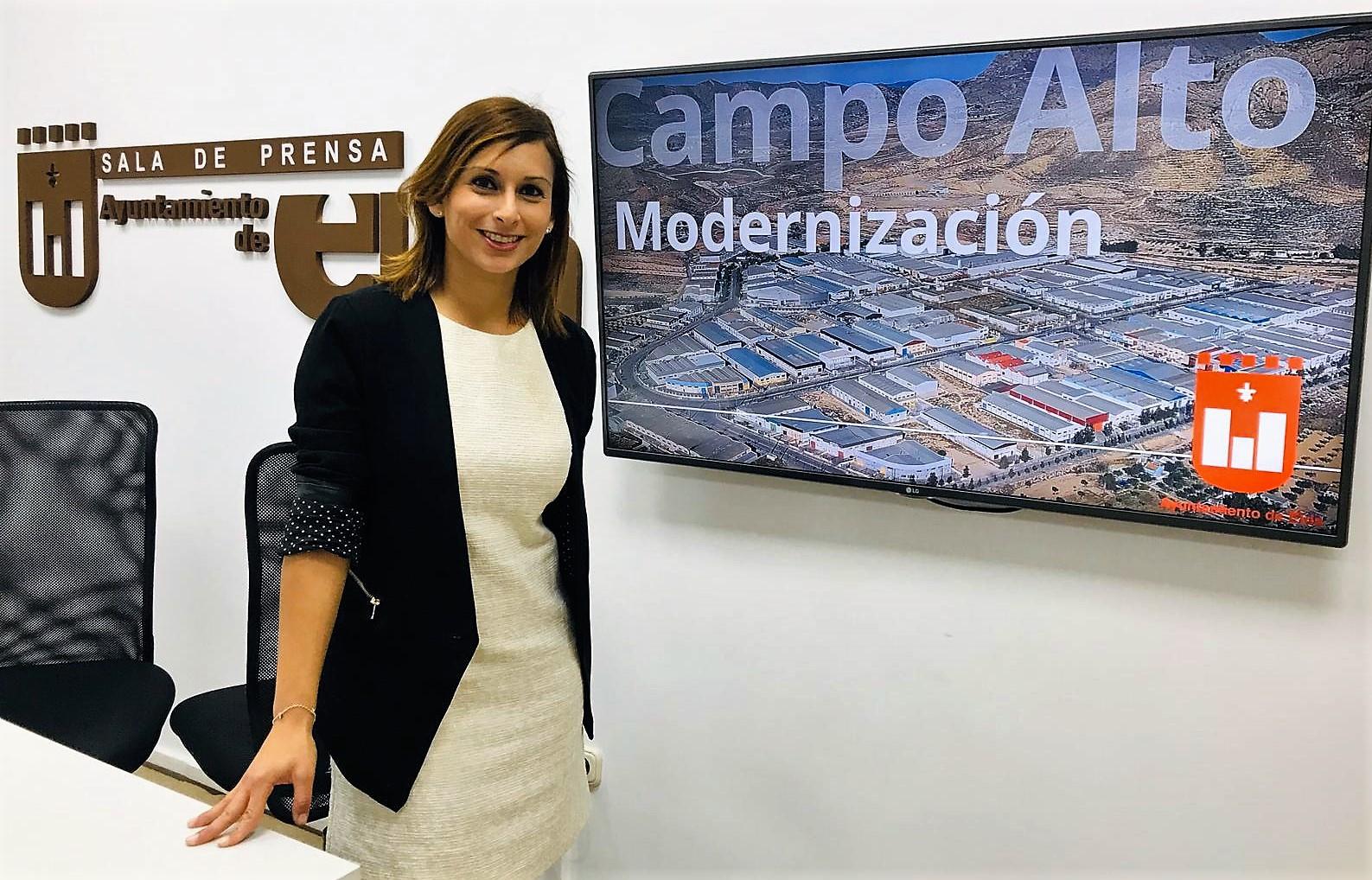 El Ayuntamiento de Elda solicita las ayudas del IVACE para avanzar este año en la modernización del Polígono Campo Alto