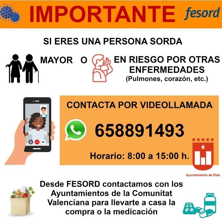 Bienestar Social ofrece asistencia por vídeollamada a las personas sordas mayores o en riesgo ante el coronavirus por otras enfermedades