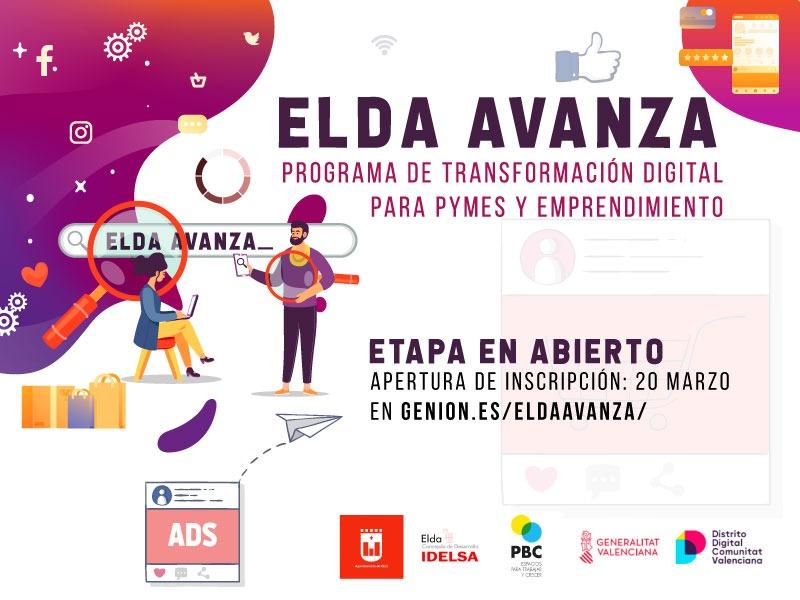 Idelsa amplía el acceso a Elda Avanza a todas las pymes y comercios que quieran participan en las sesiones virtuales