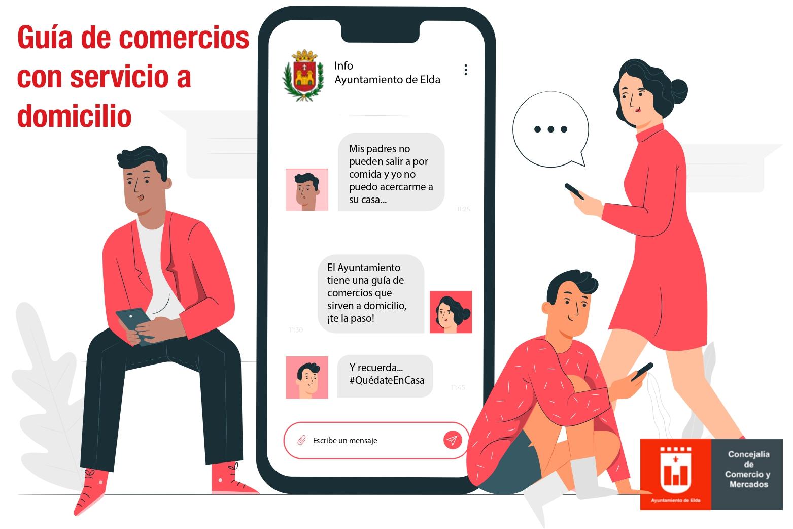 El Ayuntamiento de Elda lanza una guía rápida de comercios y establecimientos que ofrecen reparto a domicilio