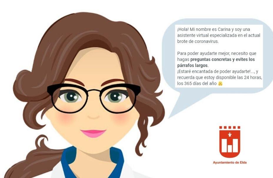 El Ayuntamiento de Elda pone en marcha un asistente virtual en la web municipal para informar sobre el coronavirus