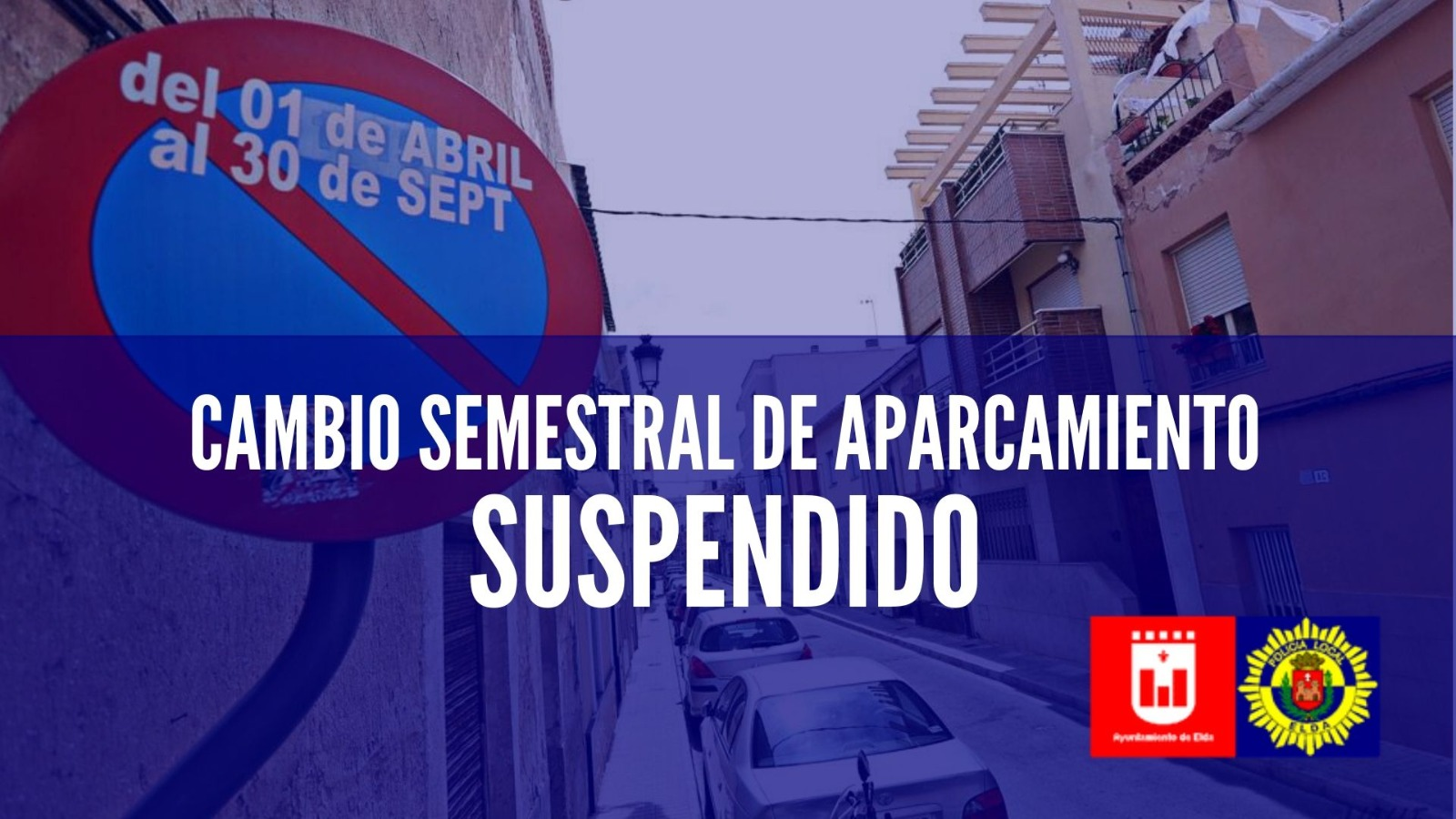 Suspendido el cambio semestral de aparcamiento previsto para el 1 de abril por la declaración del estado de alarma