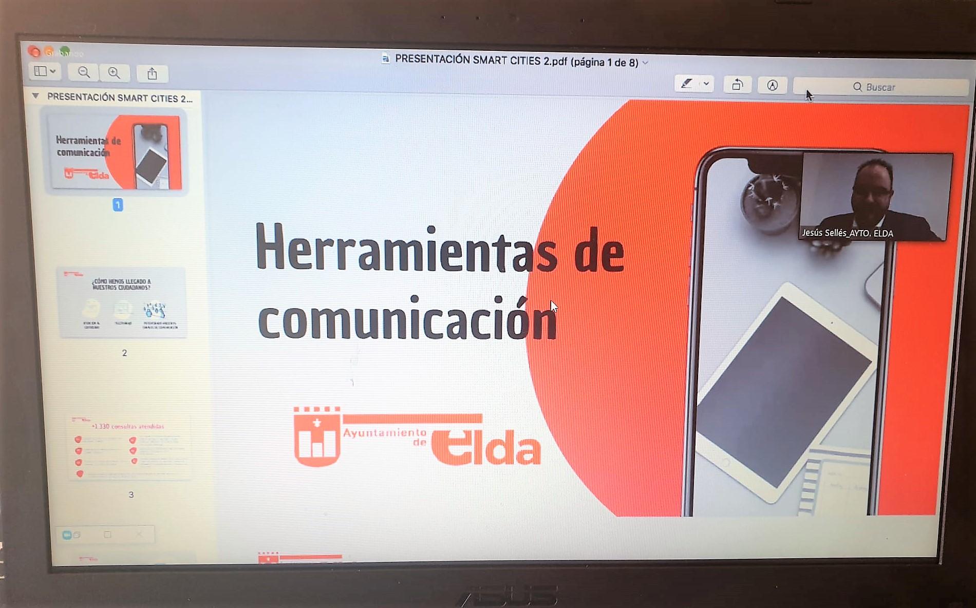 El Ayuntamiento de Elda participa en una sesión virtual sobre la respuesta de las ciudades ante la crisis del coronavirus
