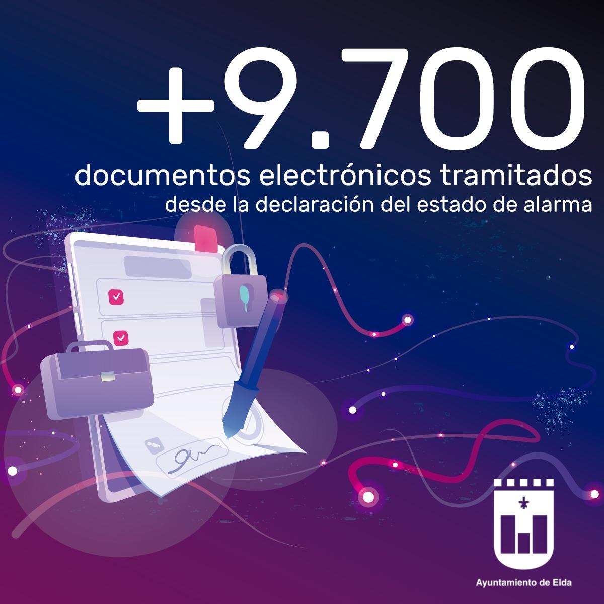El Ayuntamiento ha tramitado más de 9.700 documentos electrónicos desde la declaración del estado de alarma