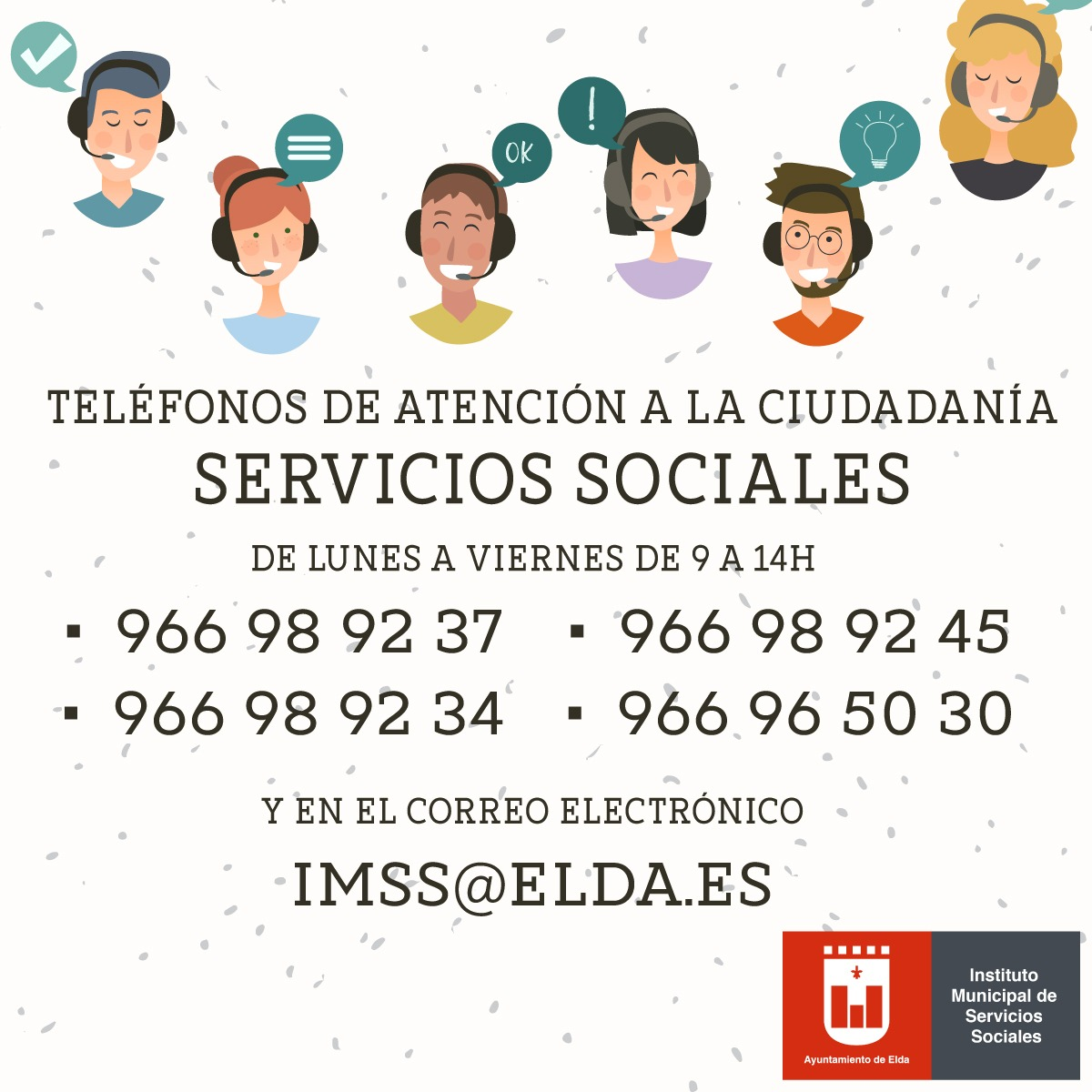 El Ayuntamiento de Elda se suma a la campaña para poner en valor el trabajo de los servicios sociales