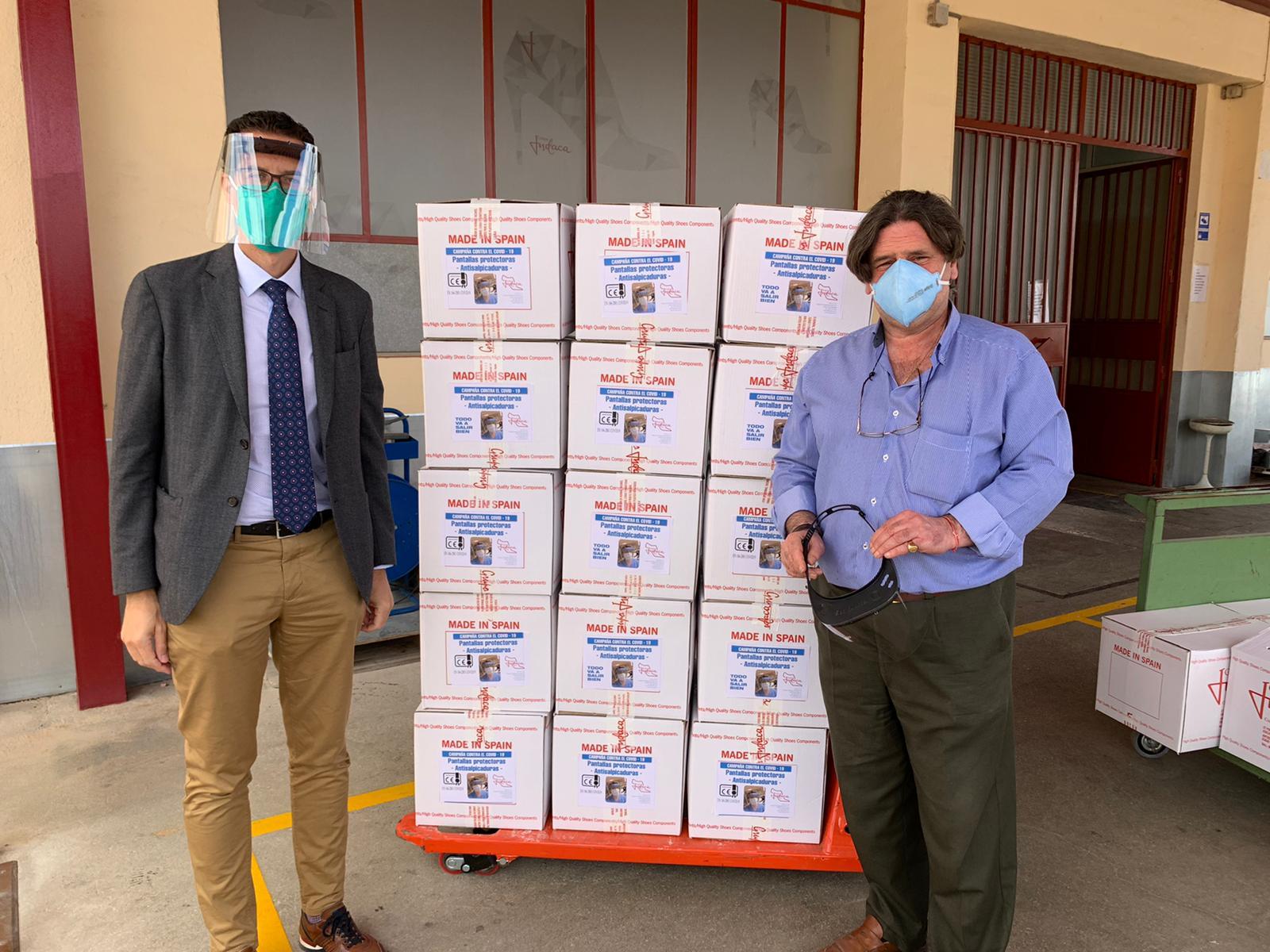 El Ayuntamiento de Elda repartirá 3.500 viseras de protección entre los comercios de la ciudad