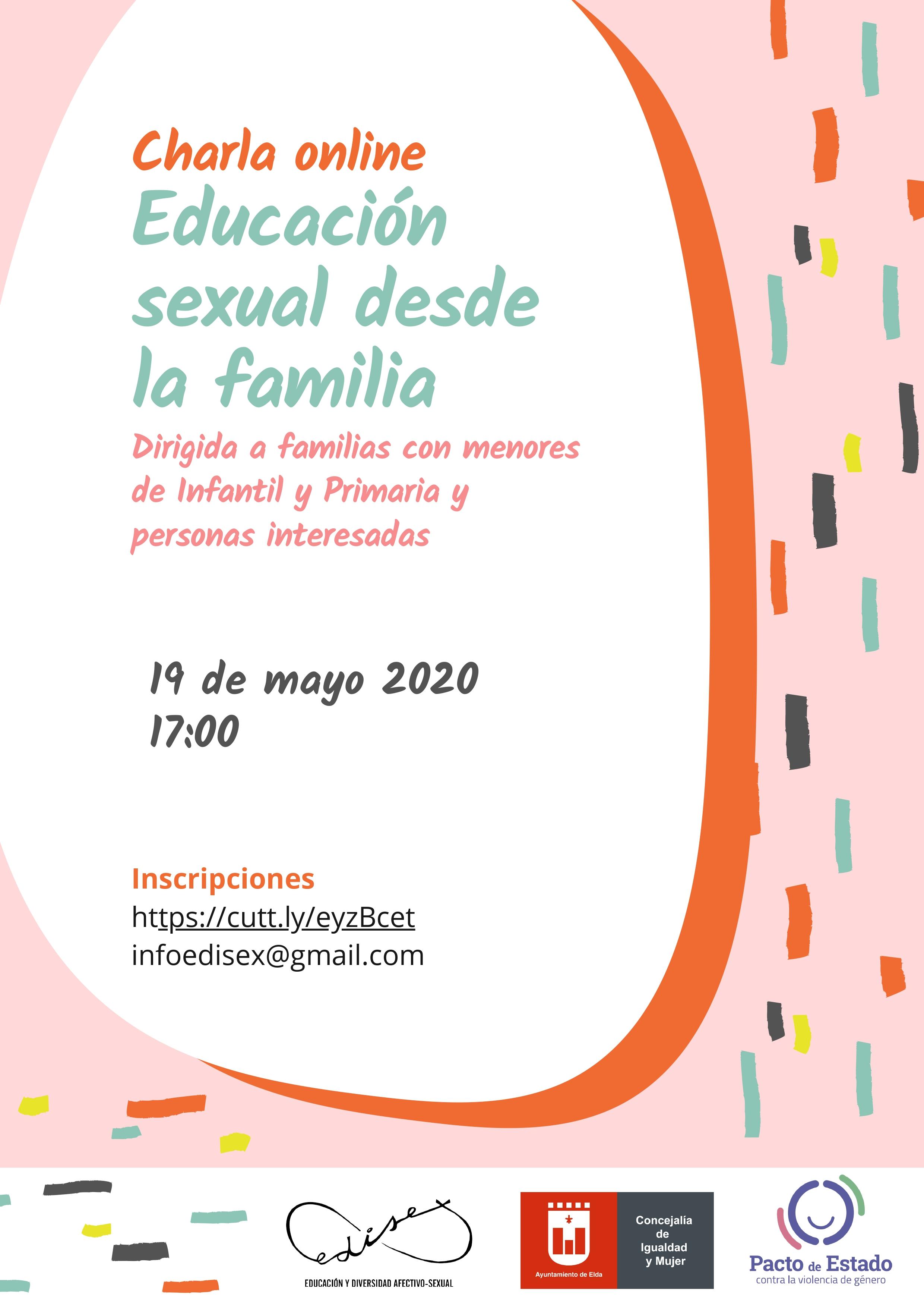 La Concejalía de Igualdad y Mujer organiza una conferencia online sobre educación sexual desde la familia