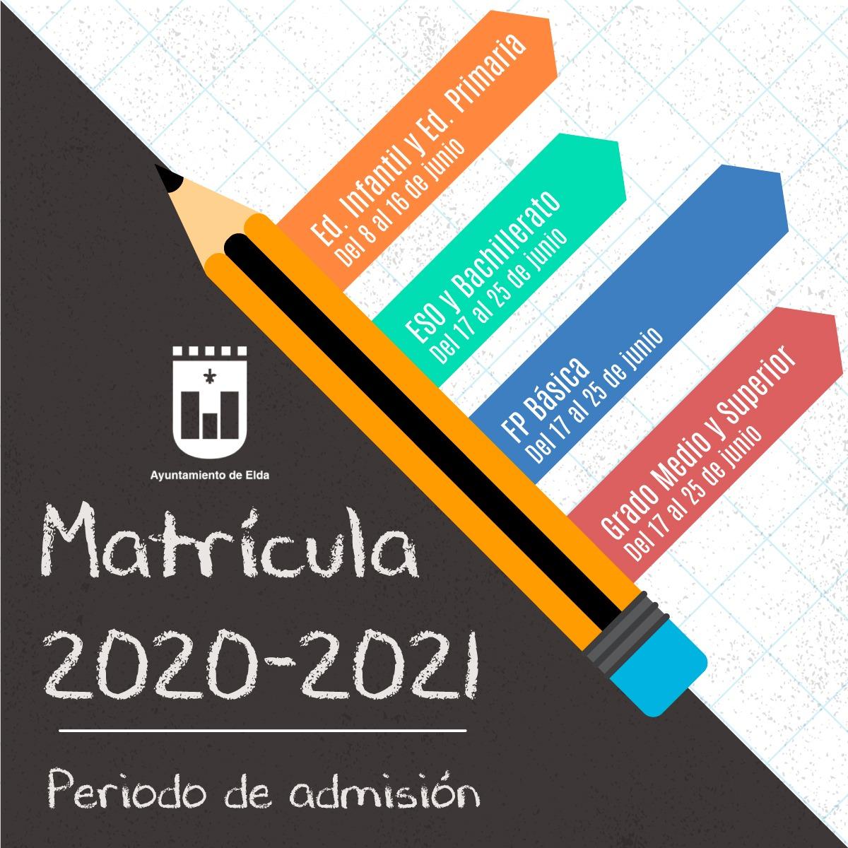 Educación fija los plazos de admisión para los alumnos y alumnas que cambién de centro o se escolaricen por primera vez