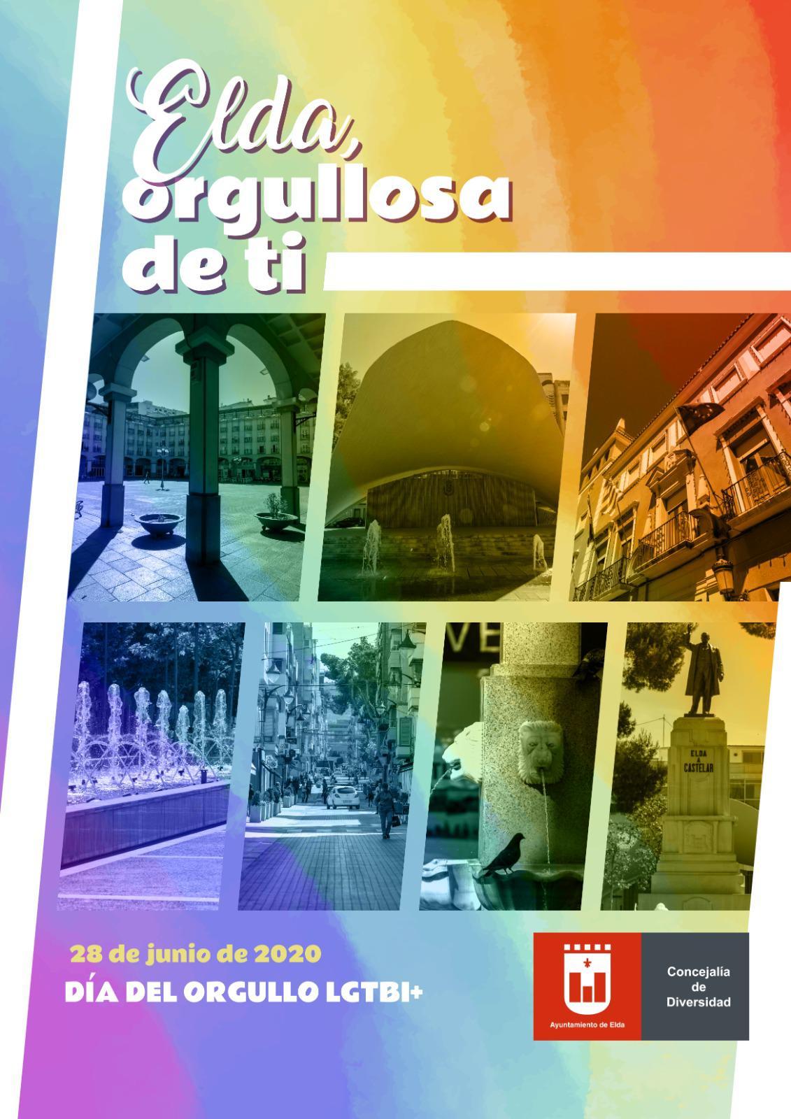"""El Ayuntamiento de Elda lanza la campaña """"Elda orgullosa de ti"""", con motivo de la celebración del Día Internacional del Orgullo LGTBI"""