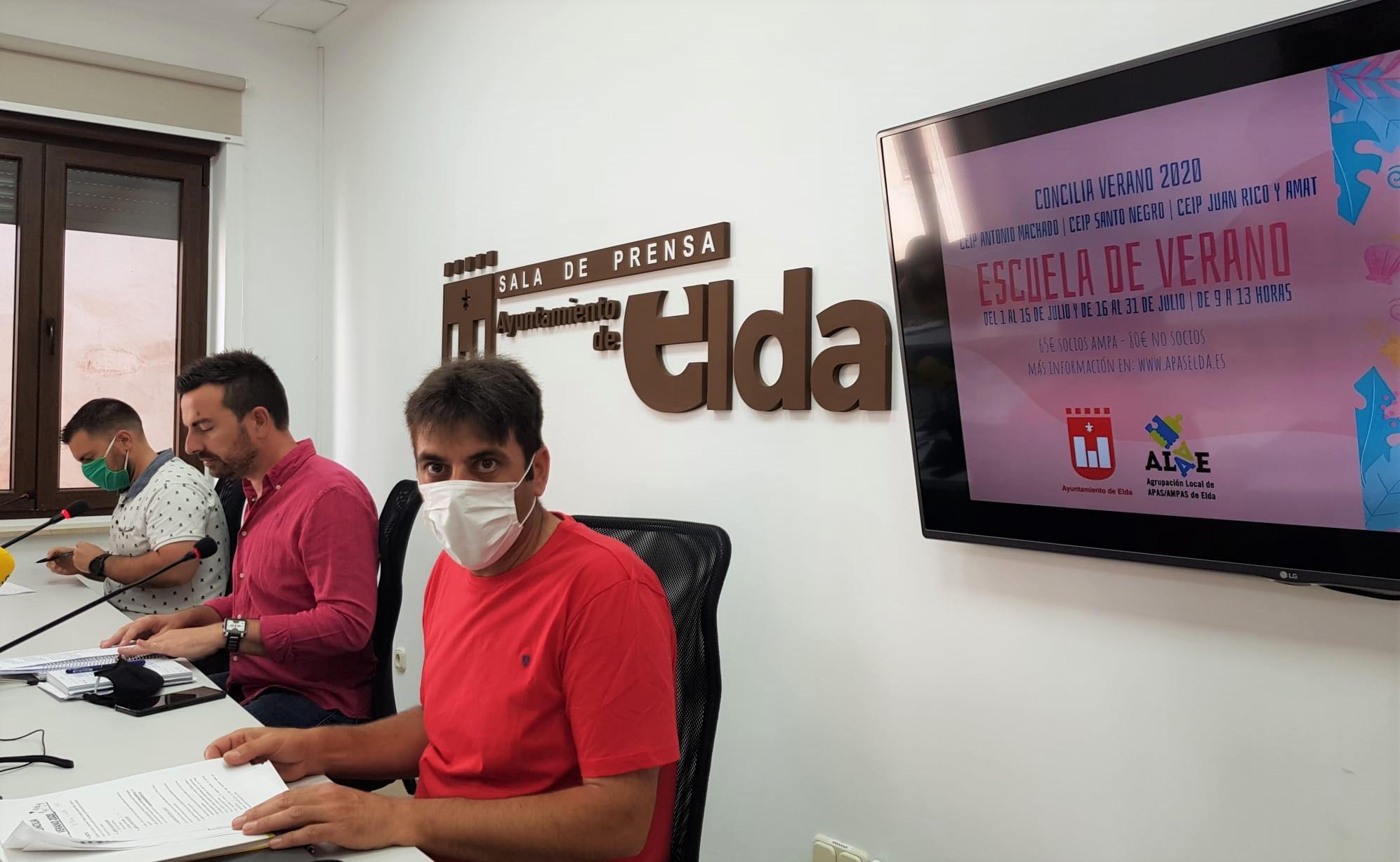 El Ayuntamiento de Elda y la Agrupación Local de Ampas organizan una escuela de verano que se desarrollará en tres centros educativos