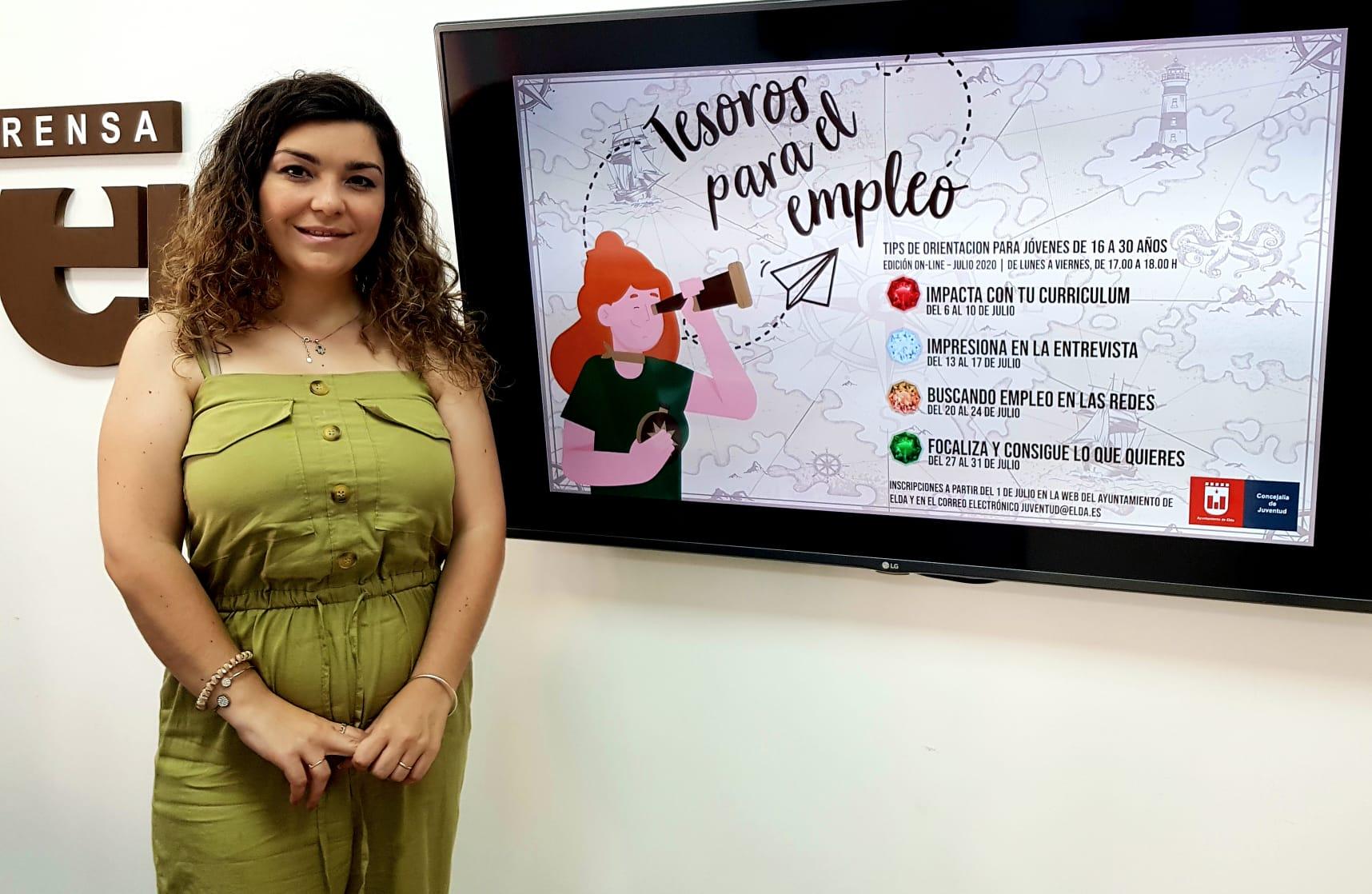 Juventud ofrece cuatro 'tips' o cursos de orientación para el empleo destinados a jóvenes de Elda de entre 16 y 30 años