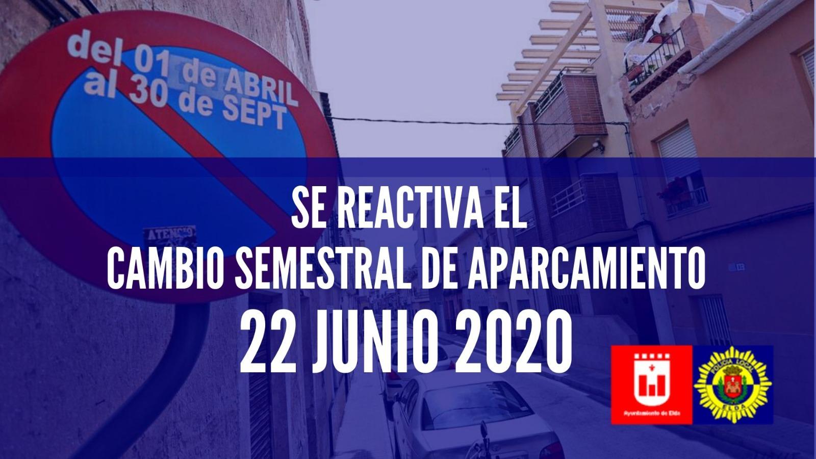 El cambio semestral de aparcamiento se reactiva el próximo 22 de junio con el levantamiento del estado de alarma