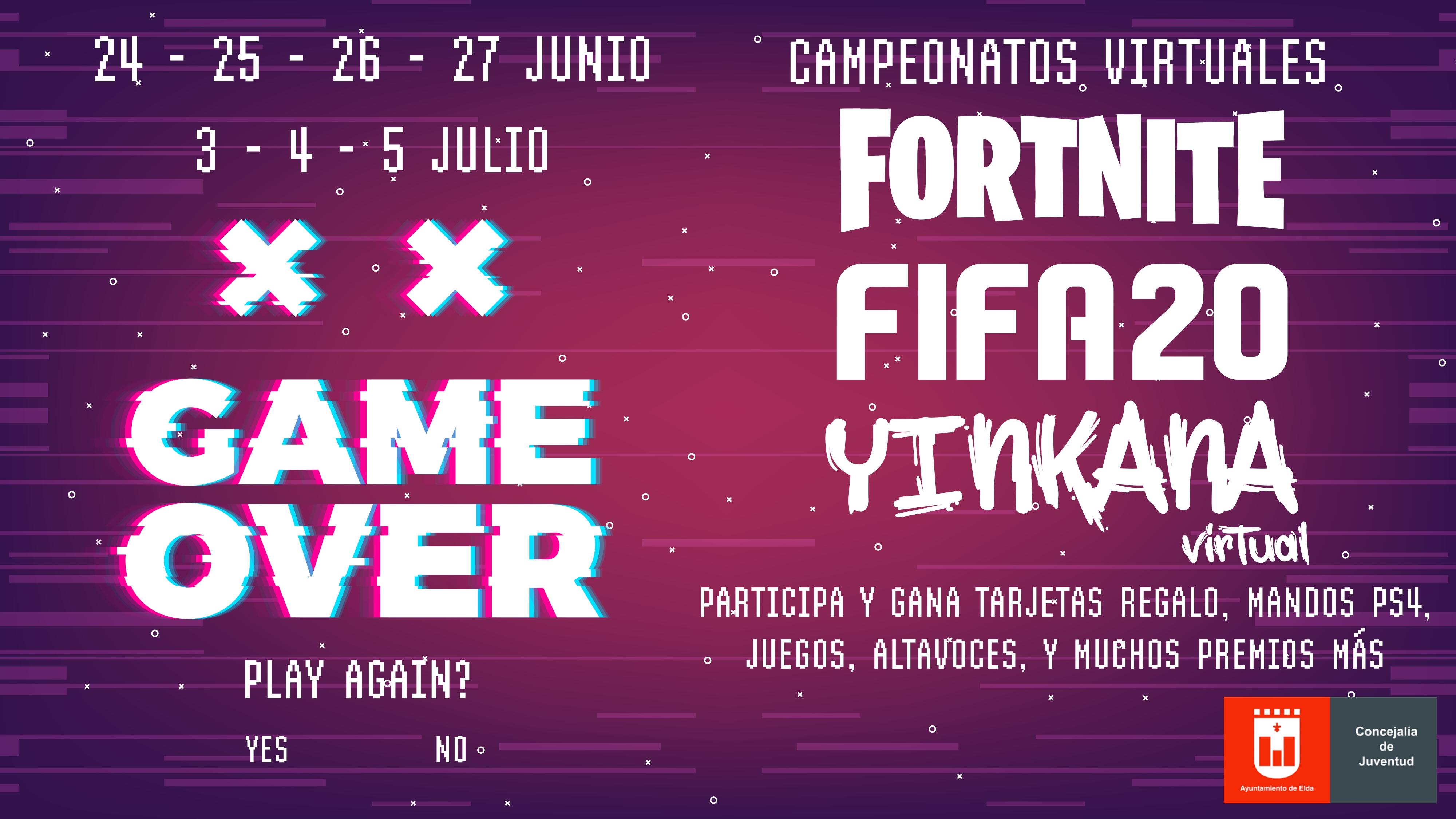 La Concejalía de Juventud organiza un programa de actividades online con torneos de FIFA 20, Fornite y Yinkana Virtual