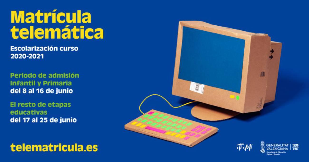 El plazo de admisión telemática en los centros eldenses de Infantil y Primaria ha comenzado hoy y continuará hasta el 16 de junio