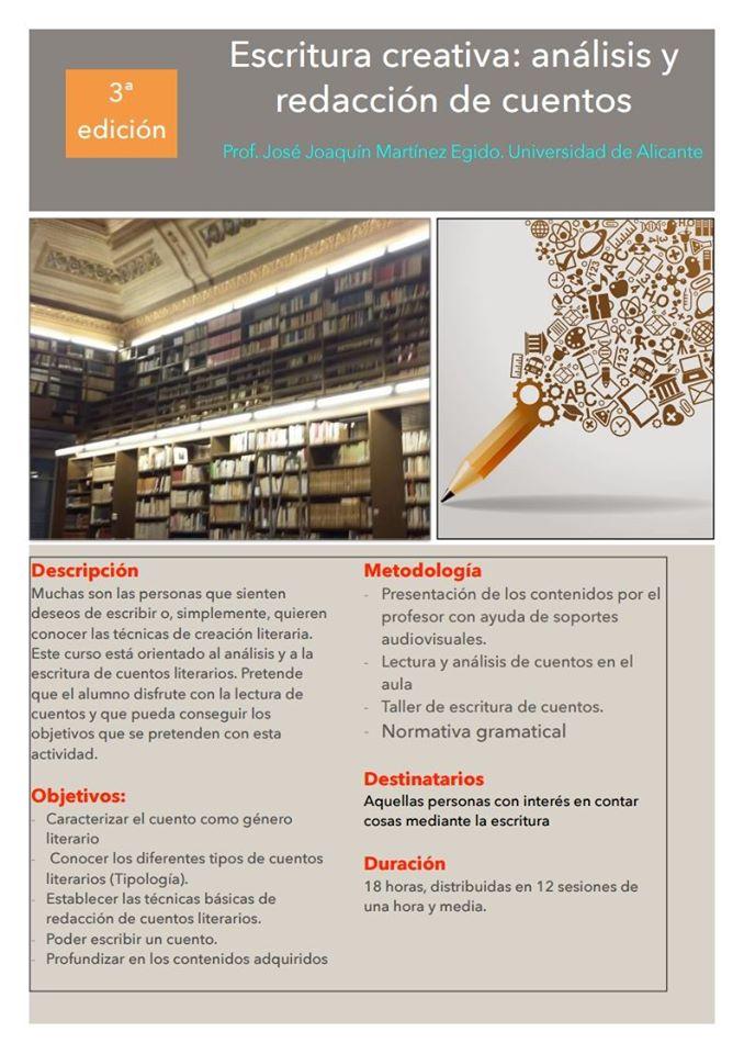 Un total de 18 alumnos completan la tercera edición del Taller de Escritura Creativa organizado por la Concejalía de Cultura