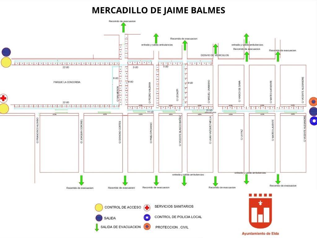 El Ayuntamiento de Elda reabre mañana el mercadillo en Jaime Balmes bajo estrictas medidas de seguridad e higiene