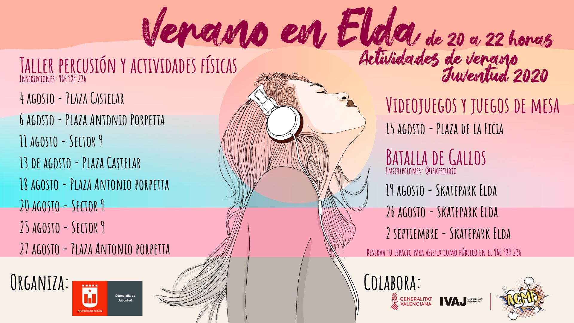 El Ayuntamiento organiza 'Verano en Elda' con un amplio programa de actividades de ocio cultural y alternativo infantil y juvenil