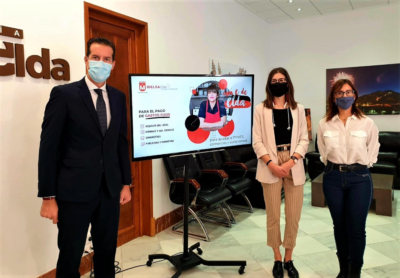 Idelsa inicia el pago de las ayudas económicas a las pymes y autónomos de Elda que se han visto afectados por la crisis del Covid-19