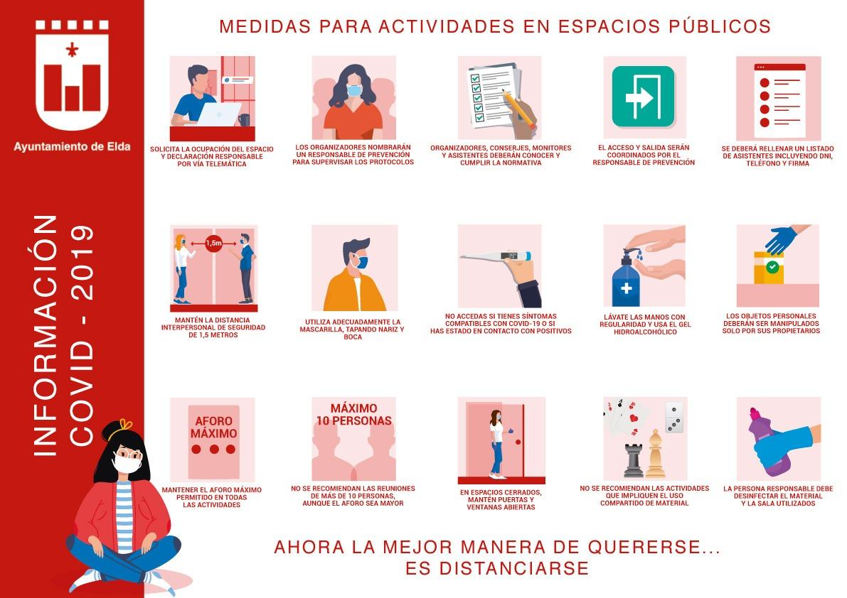 El Ayuntamiento de Elda establece las medidas de seguridad bajo las que se reabrirán los centros sociales, locales de asociaciones vecinales y socioculturales