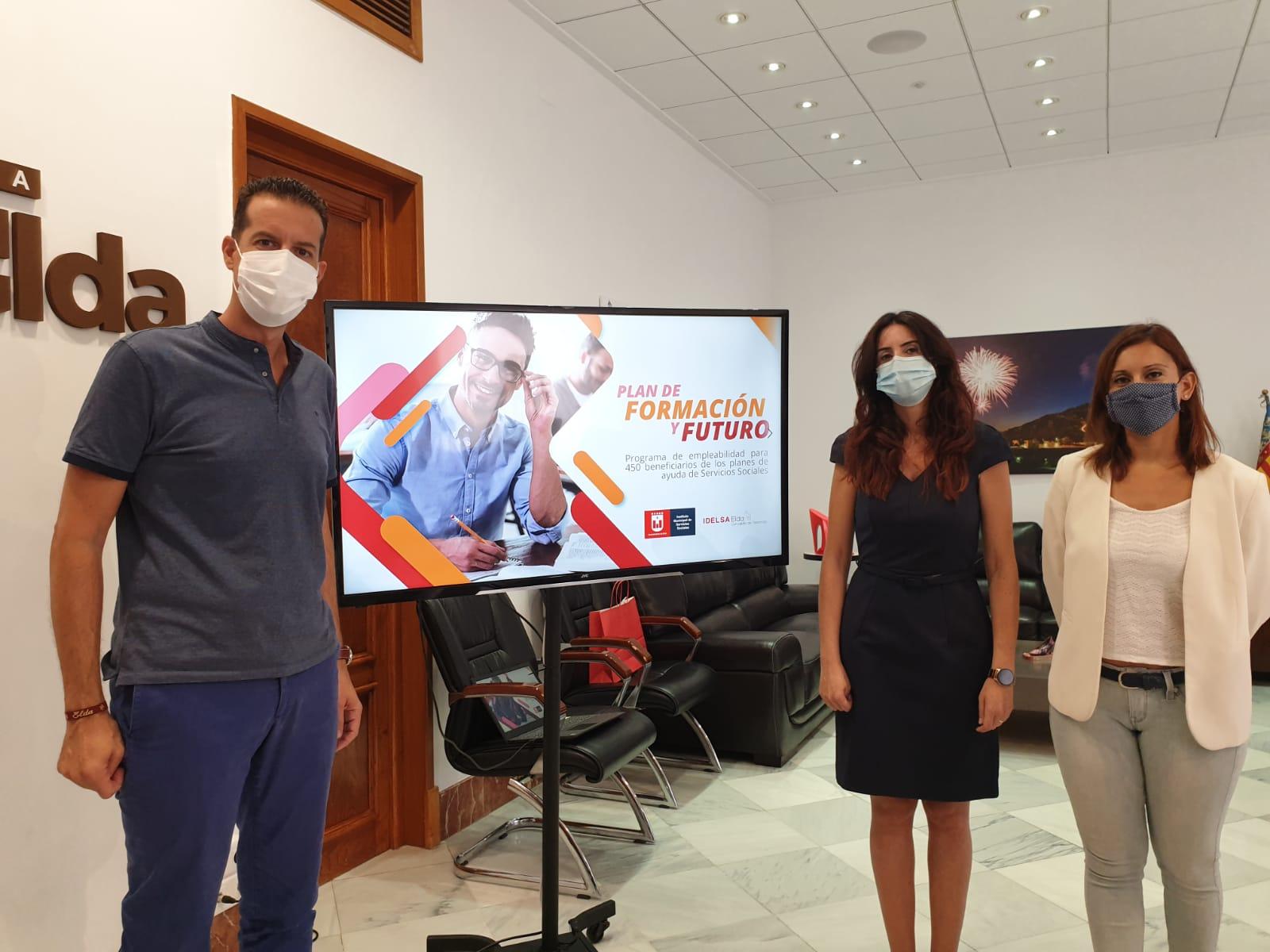 El Ayuntamiento de Elda pone en marcha el plan de formación para 450 personas que han recibido ayudas sociales por la crisis sanitaria