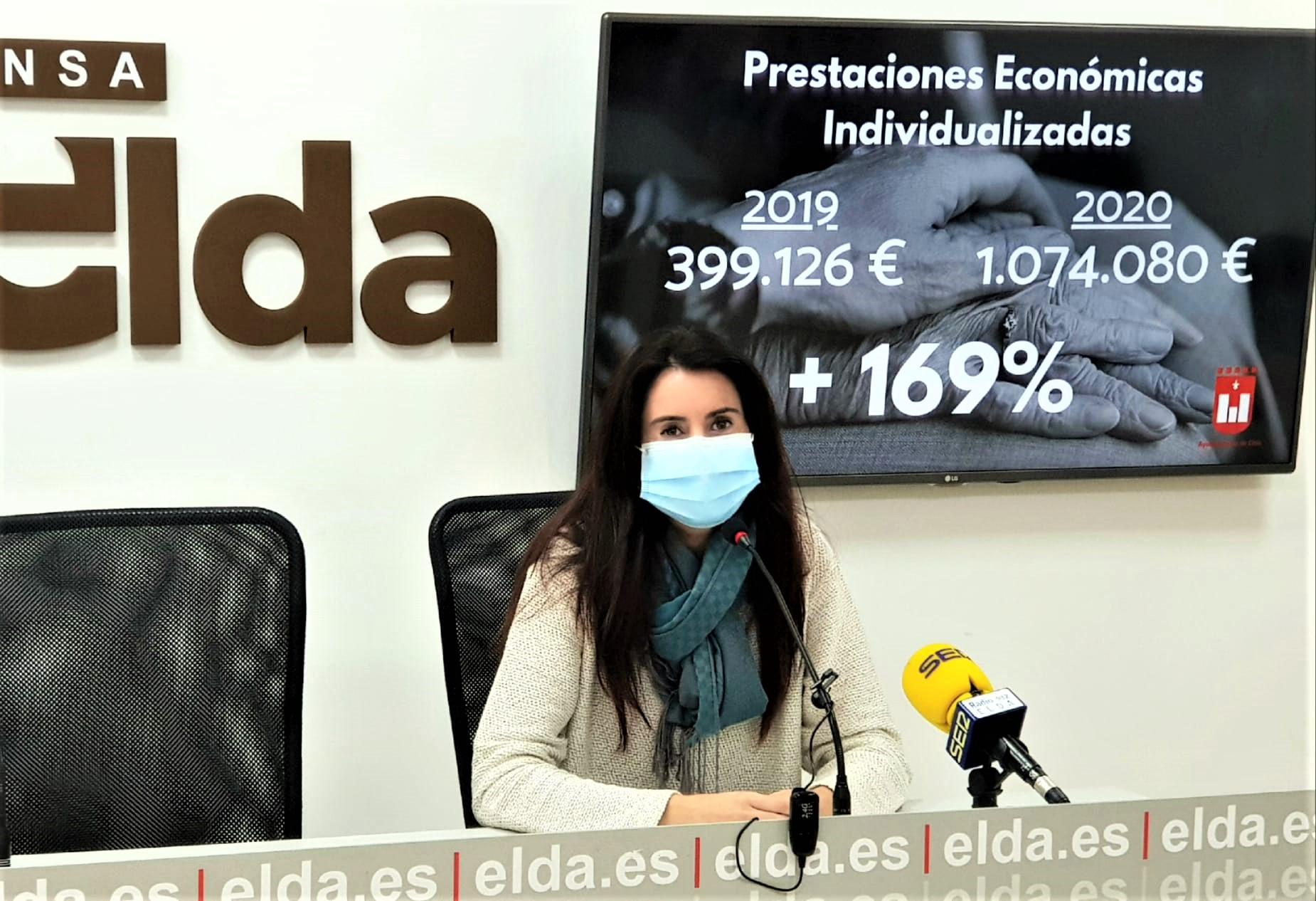 El Ayuntamiento de Elda aumenta un 169% el importe de las ayudas sociales concedidas a familias eldenses afectadas por la pandemia
