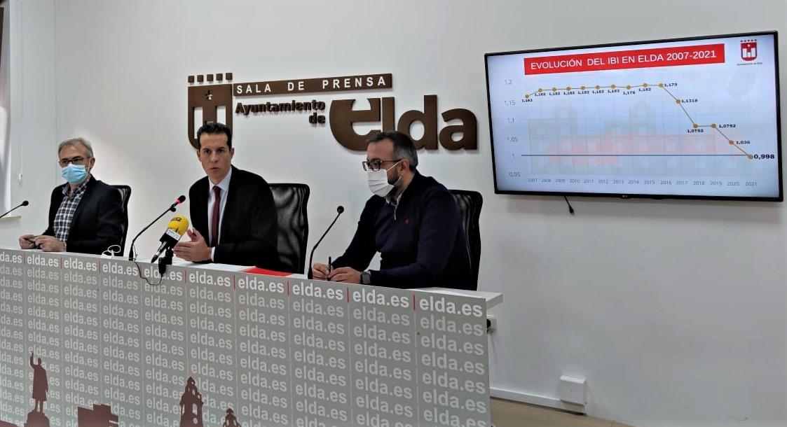 El Ayuntamiento de Elda rebaja el tipo impositivo del IBI, suprime la tasa de terrazas para 2021 y congela el resto de impuestos