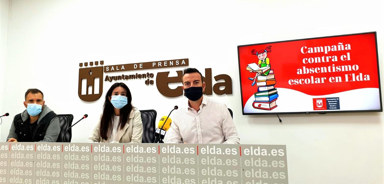 El Ayuntamiento de Elda inicia una campaña para poner freno al absentismo escolar en los centros educativos de la ciudad