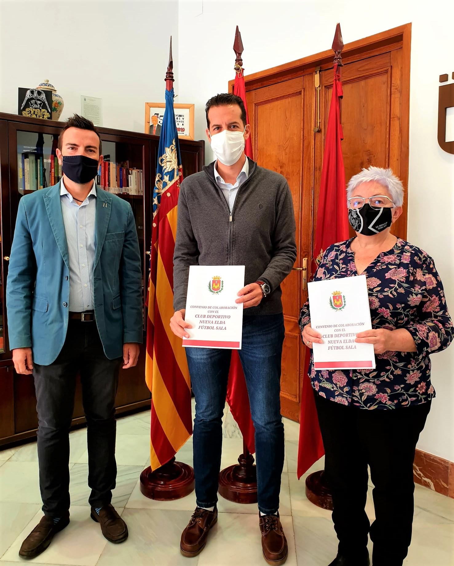 El Ayuntamiento de Elda firma el convenio de colaboración con el Club Deportivo Nueva Elda