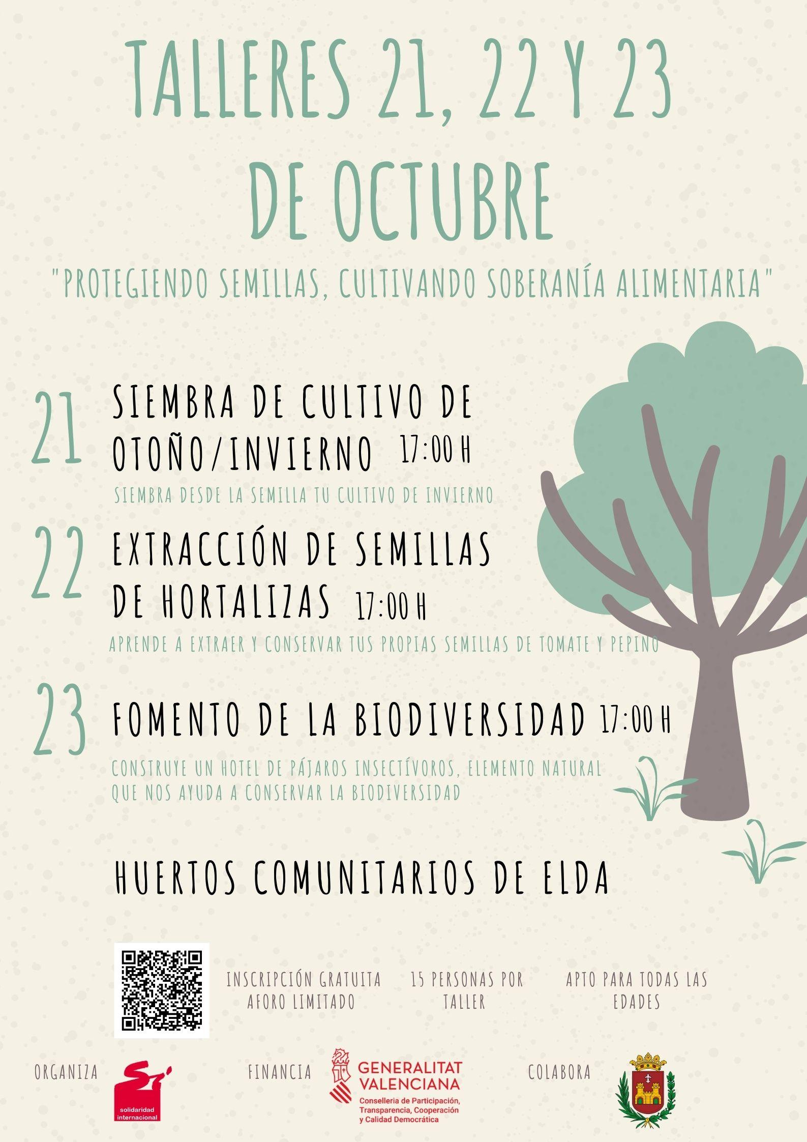 El Ayuntamiento organiza tres talleres en los huertos municipales para promover el conocimiento de la biodiversidad autóctona