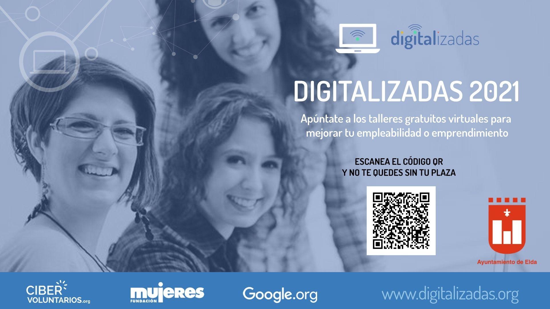 La Concejalía de Igualdad ofrecerá en enero dos talleres online para mejorar las habilidades digitales y el autoempleo femenino en Elda